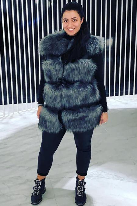 Faux fur Only Long Gilet