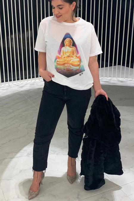 White Buddha T-Shirt