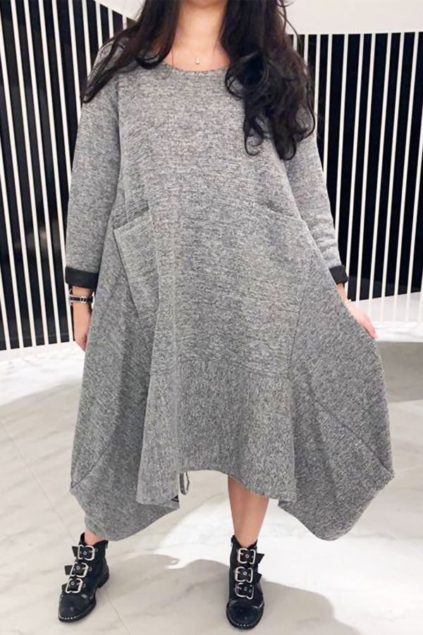 Italian style dress coat - Grey