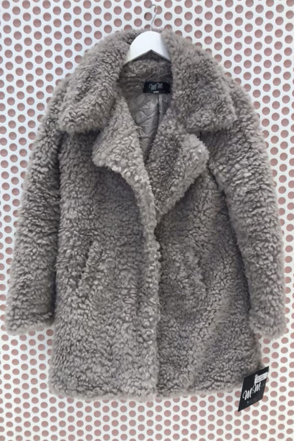 Grey Teddy Coat