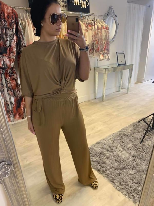 Tan Loungewear Set