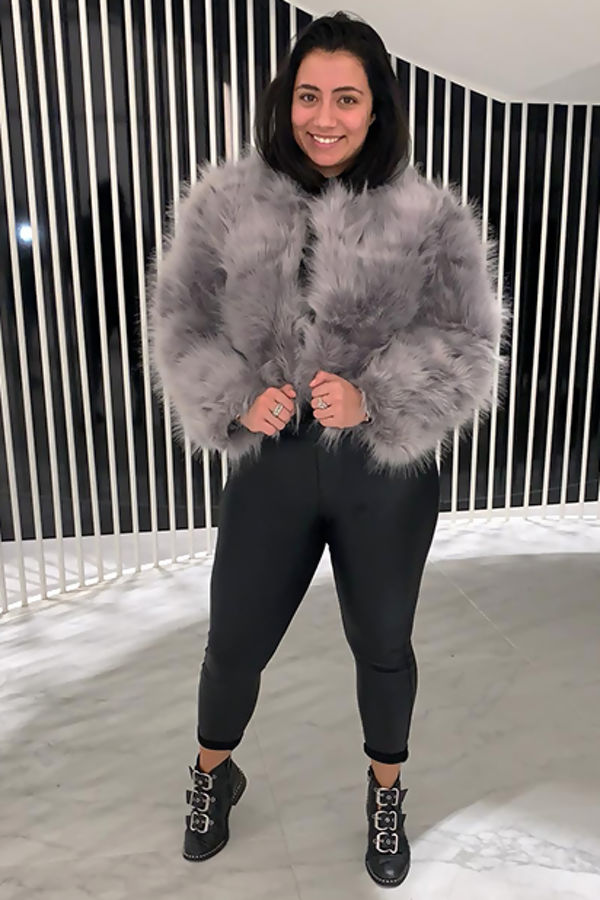 Faux Fur Only Jacket - Grey
