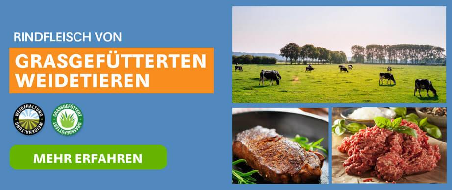 Grasgefüttertes Rindfleisch aus Weidehaltung