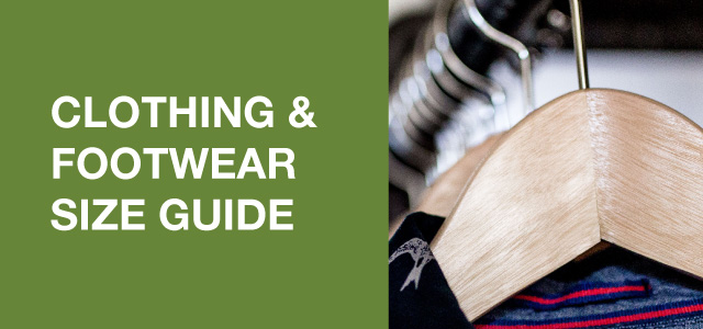 Clothing and Footwear size guide