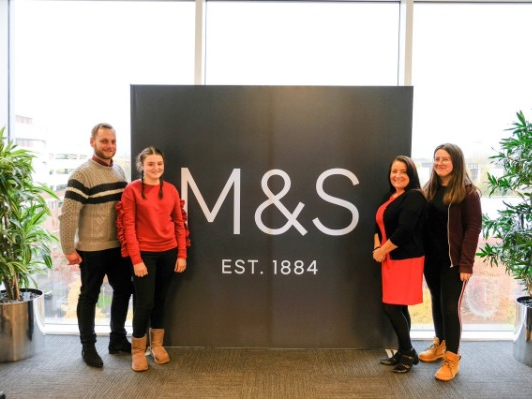 College & M&S team up to help local people shine