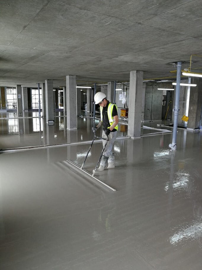 Finished flow screeding project in Norfolk