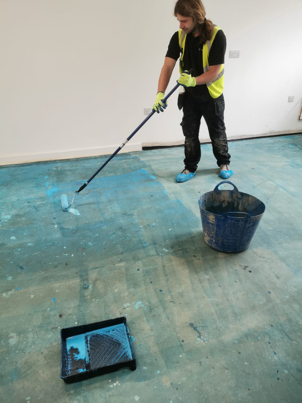 Floor screeding aftercare project