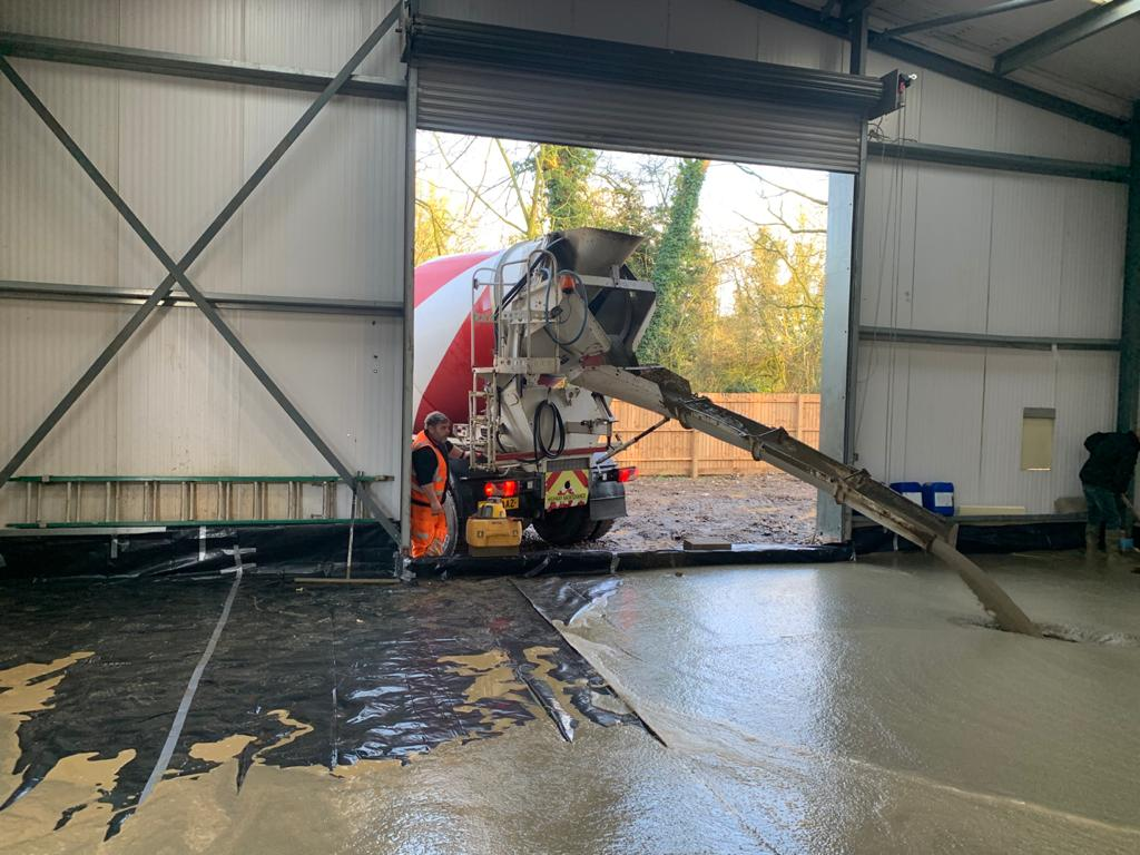 Floor screeding for large Norfolk business