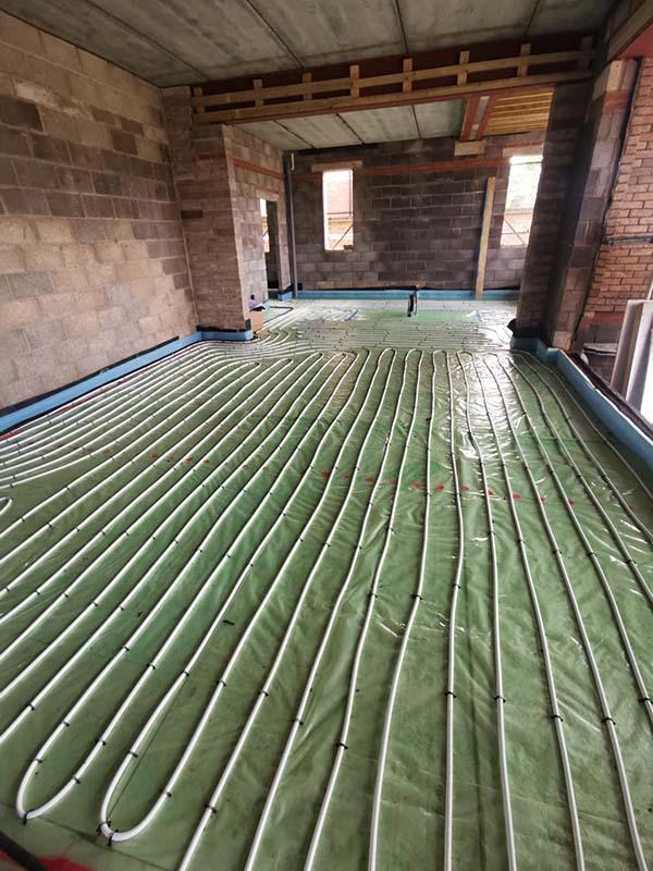 Large underfloor heating project