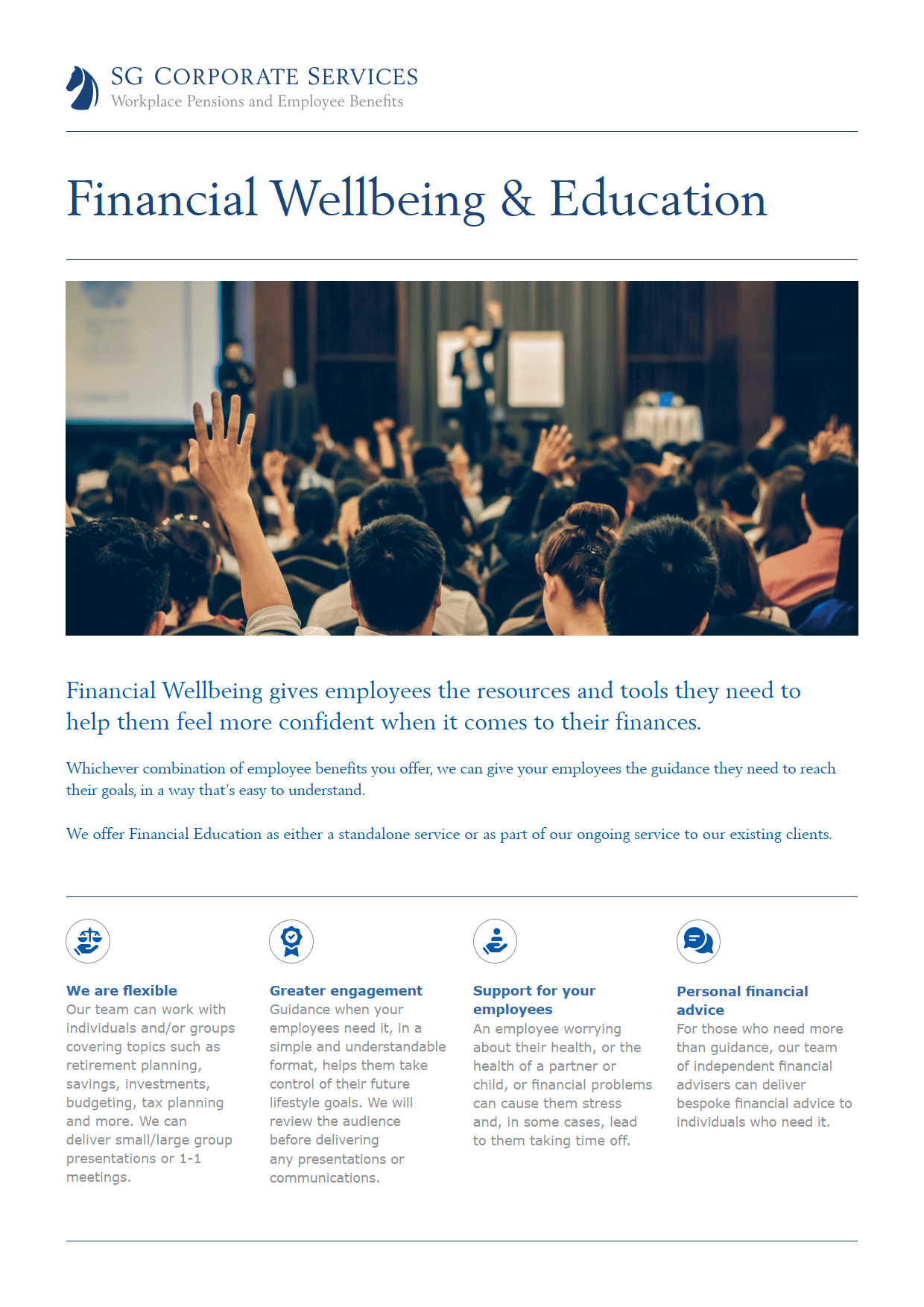 Product Guide - Financial Wellbeing & Education