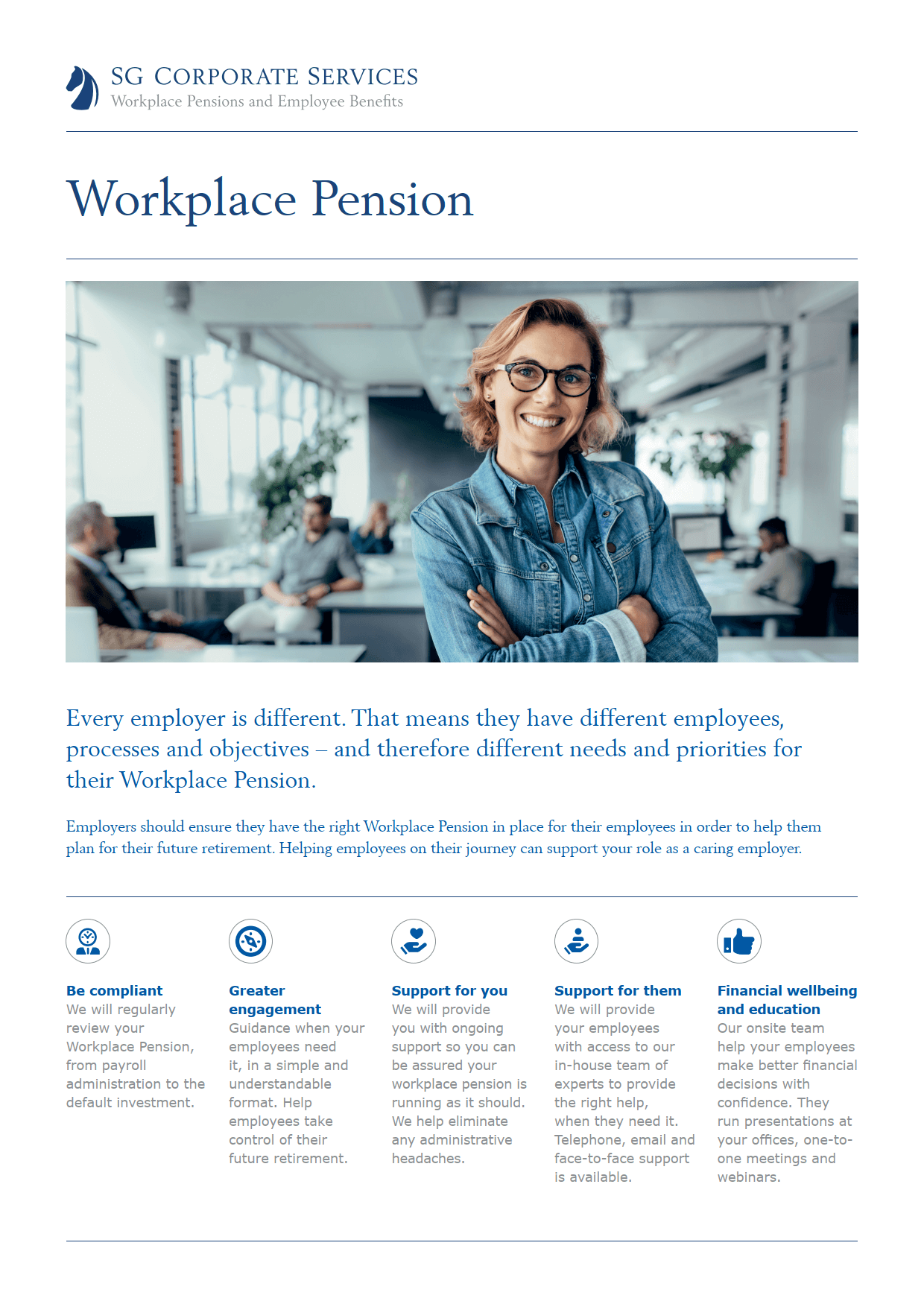 Product Guide - Workplace Pension