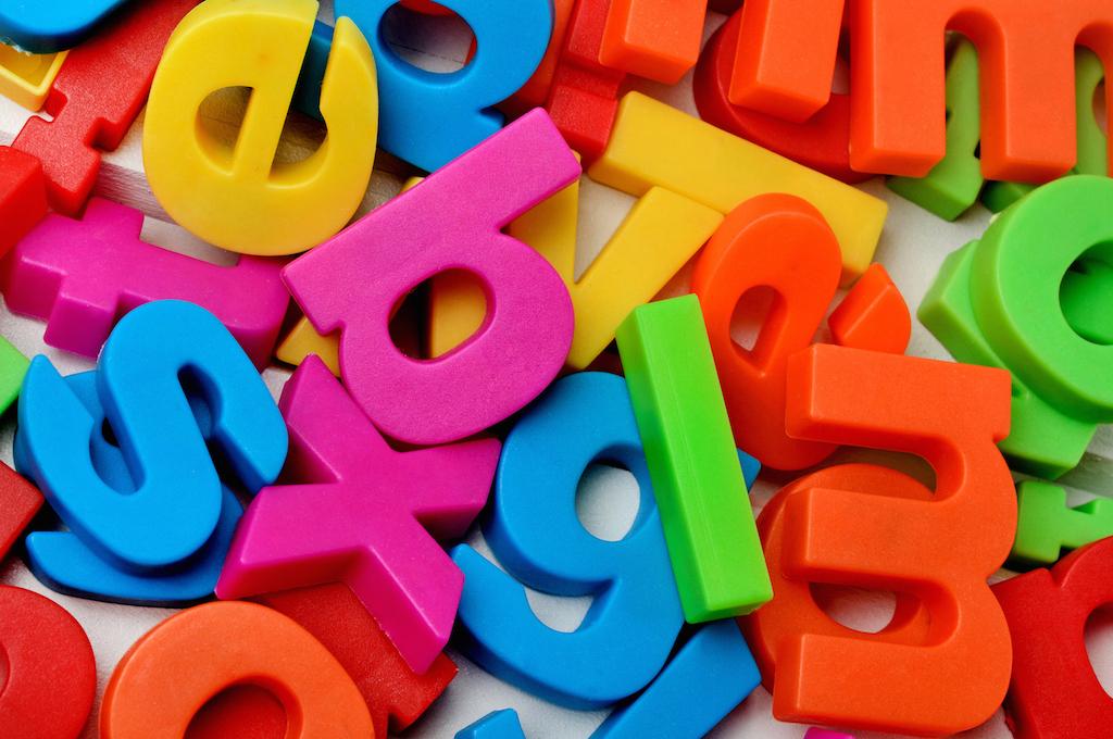 multicoloured letters