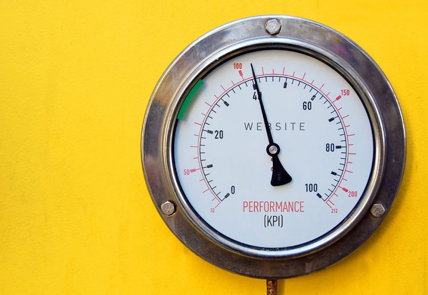 Scale dial on yellow
