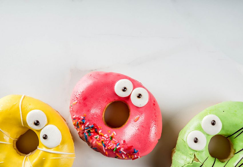 colour halloween donuts