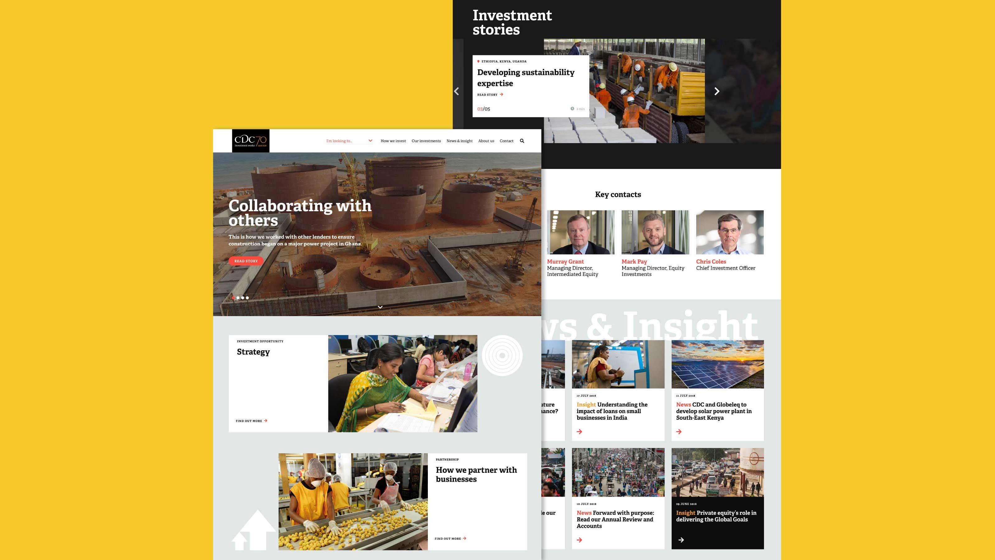 website development finance sector CDC