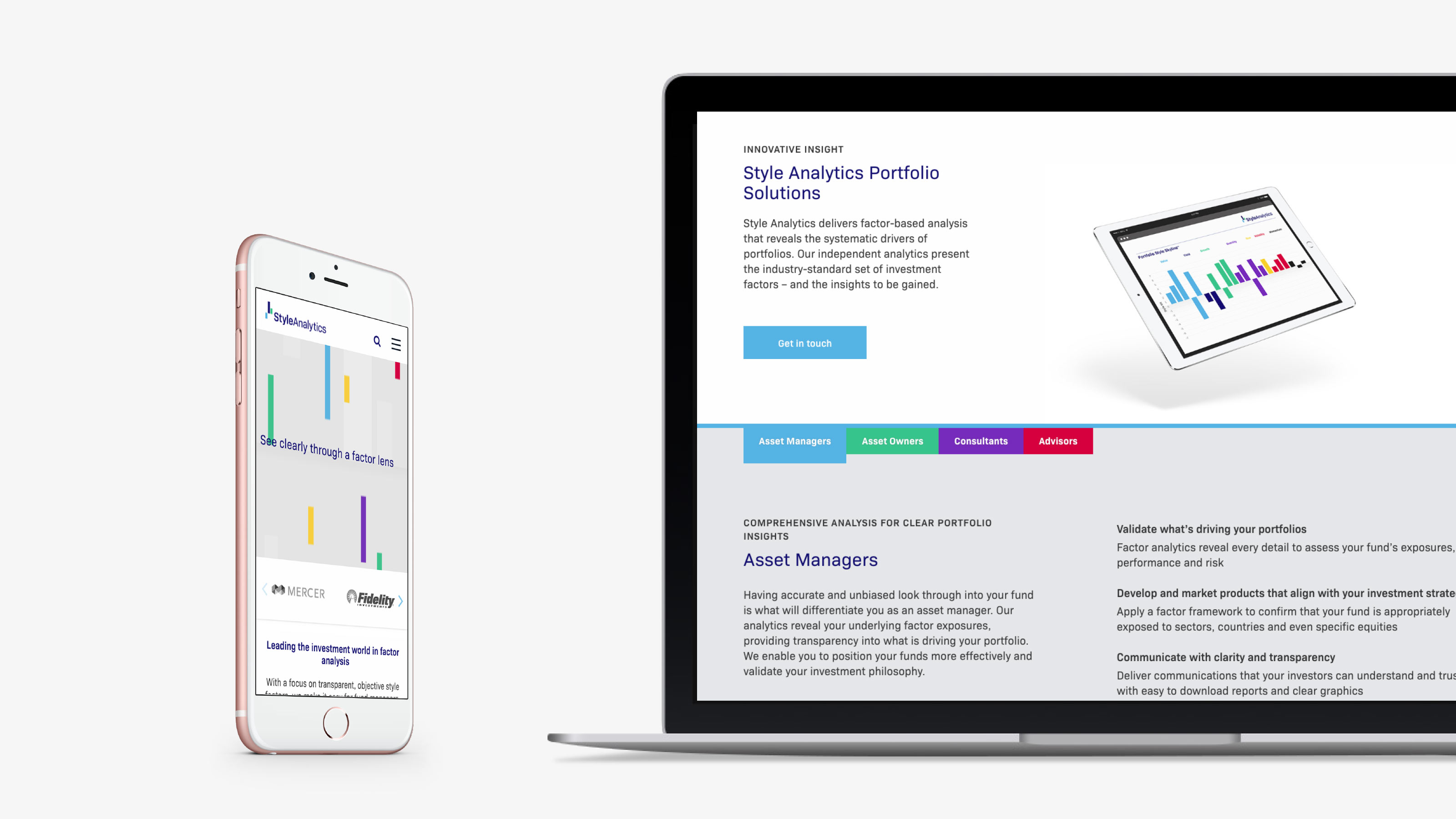 Brand web design StyleAnalytics