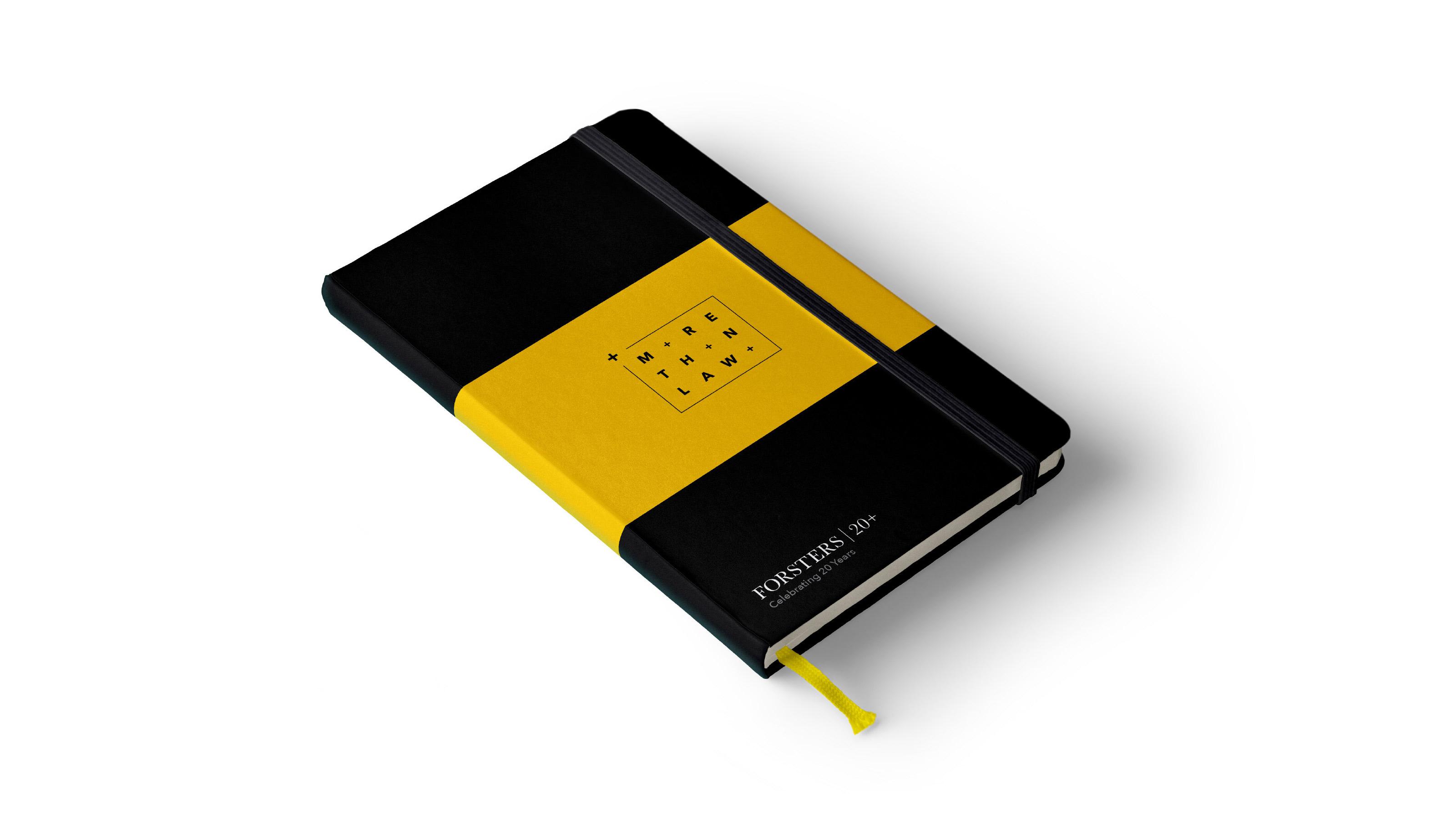 Brand notebook design Forsters