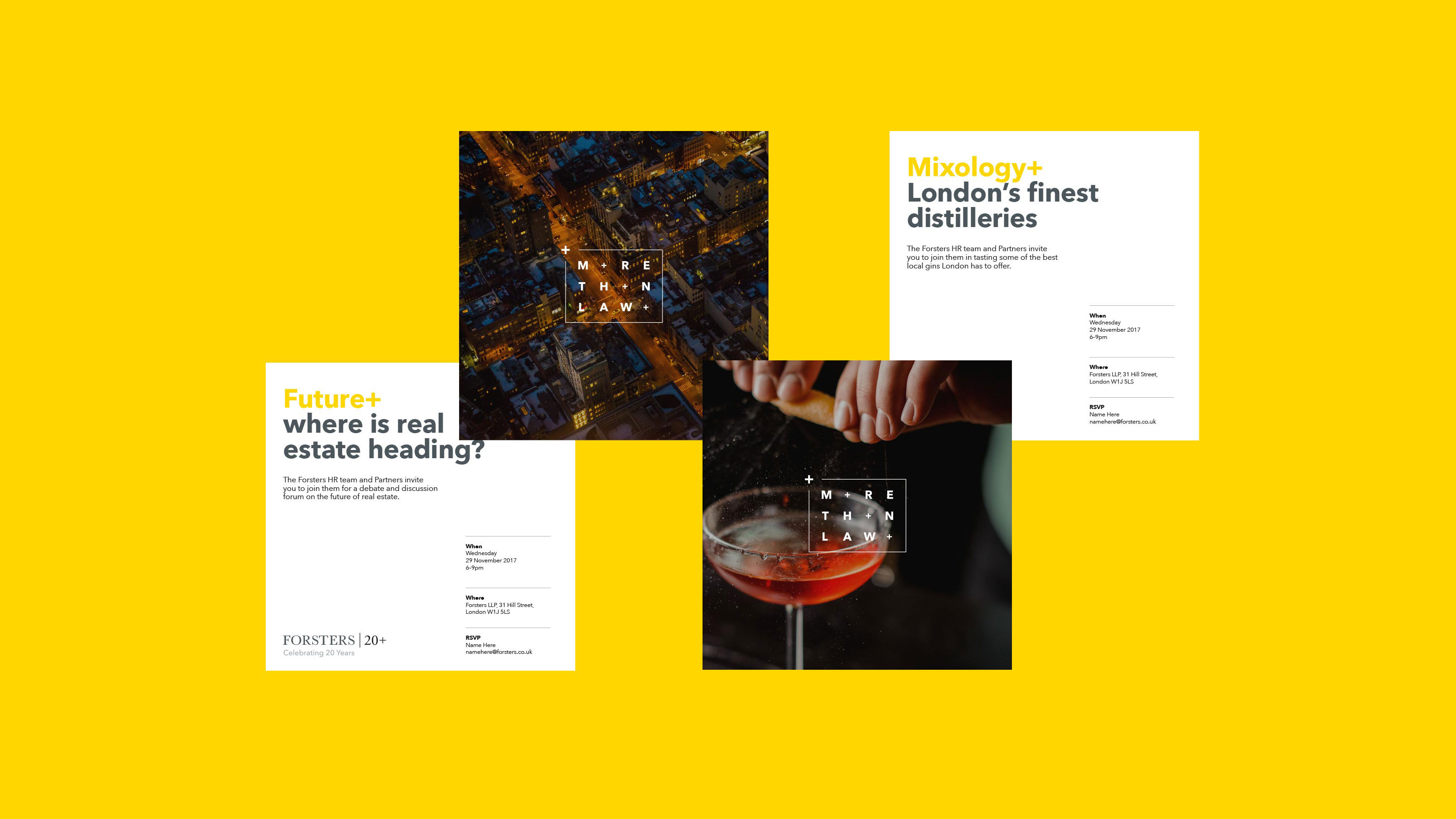 Brand visual identity Forsters