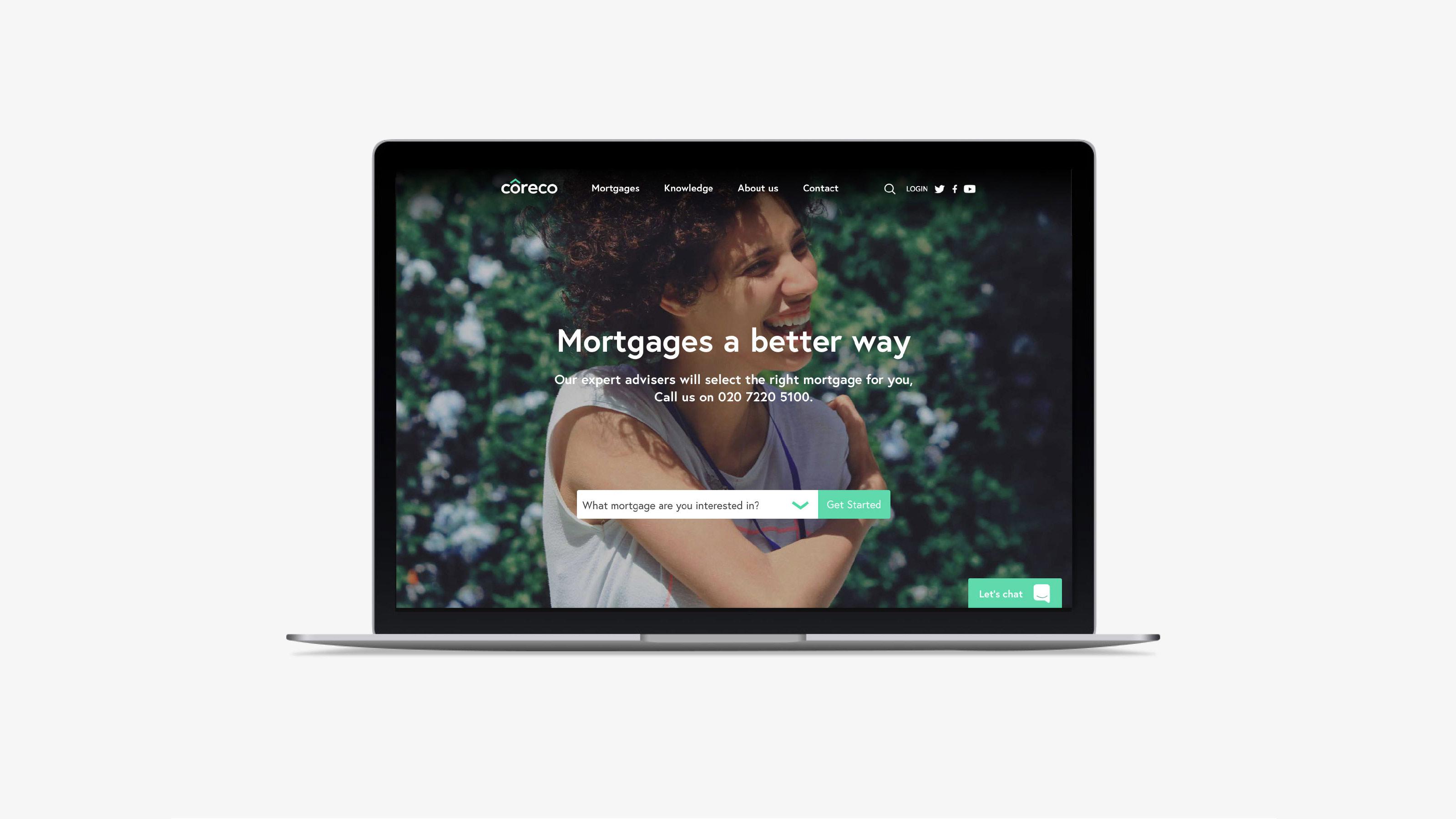 Digital desktop web design Coreco