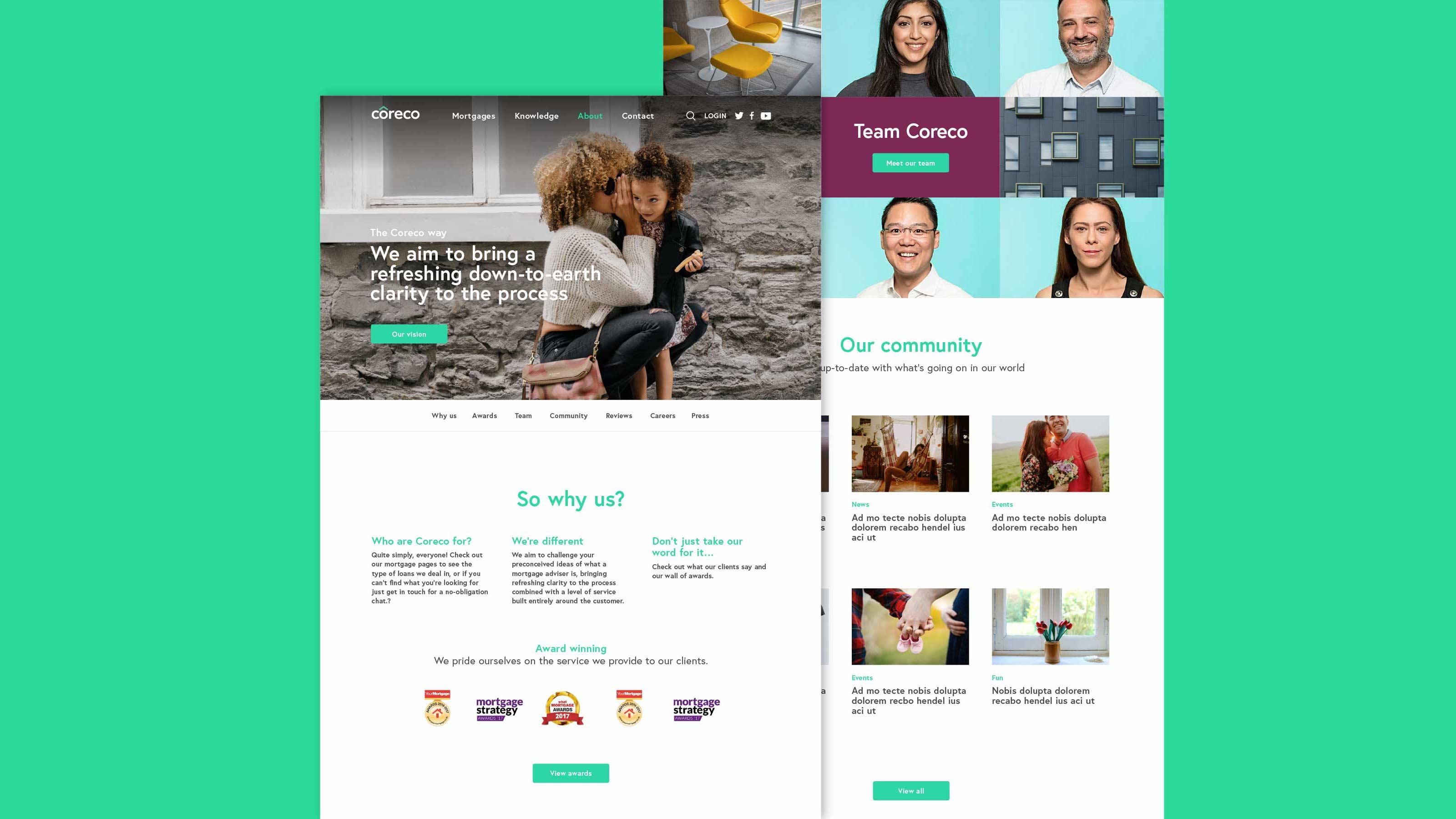 Digital web pages Coreco