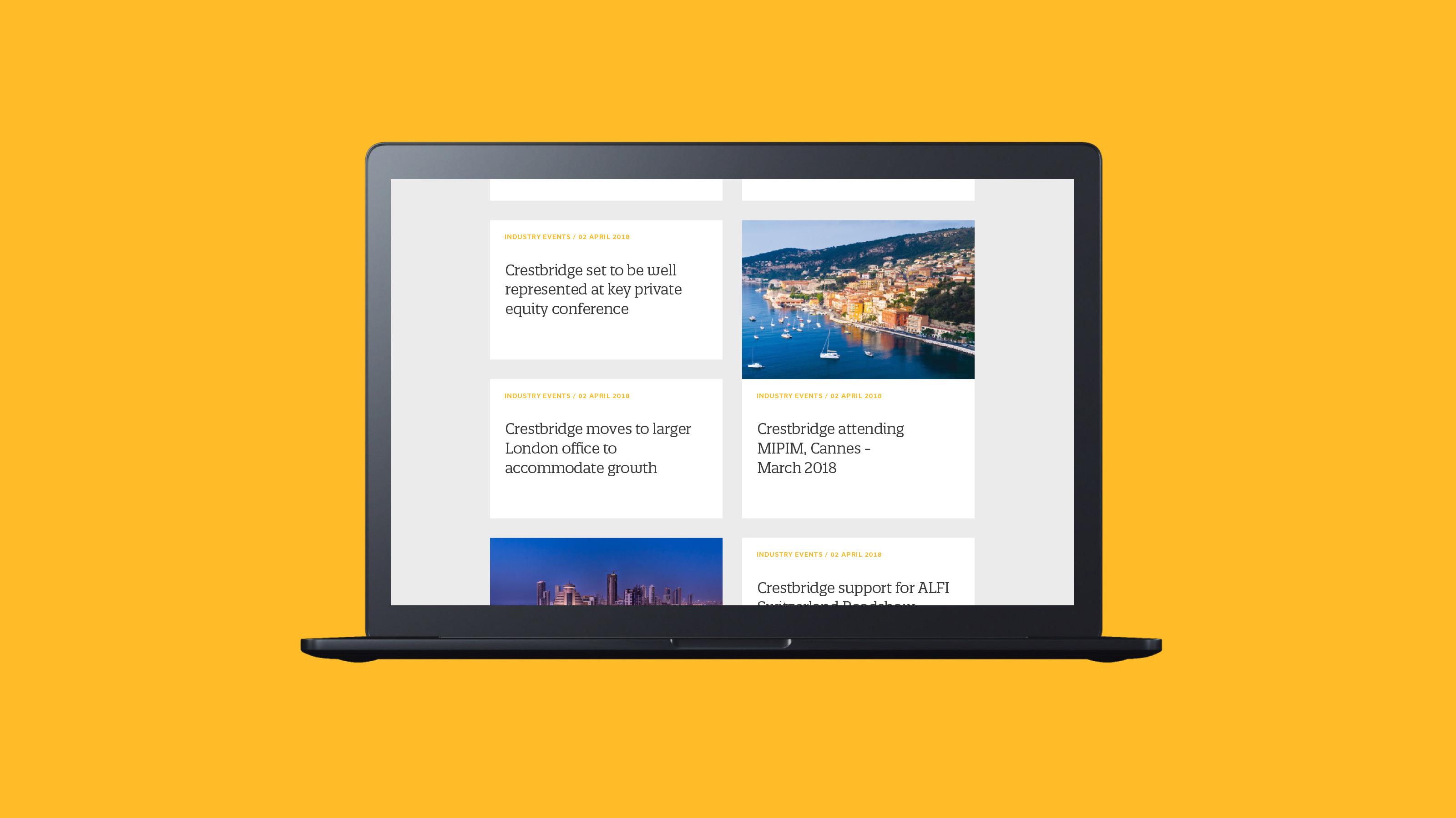 Digital design web Crestbridge