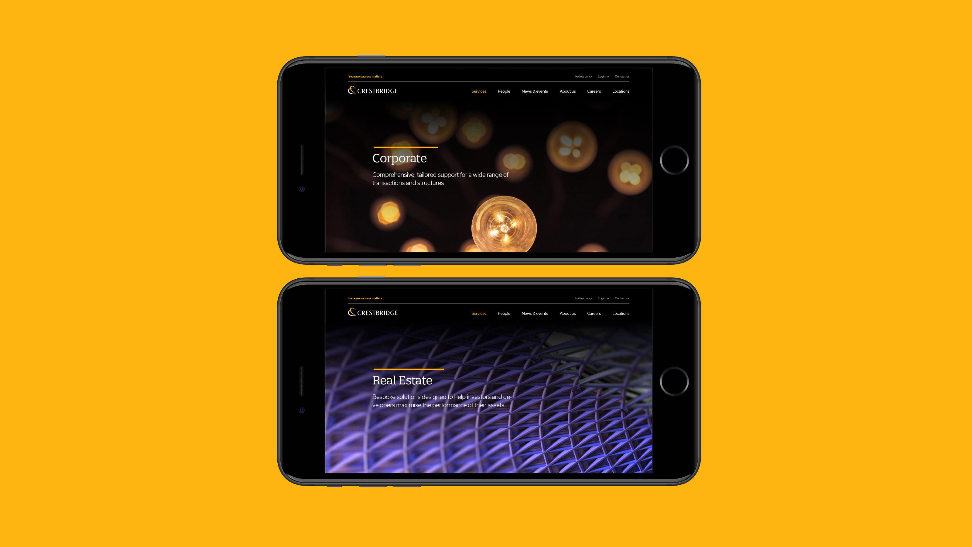 Digital mobile design Crestbridge