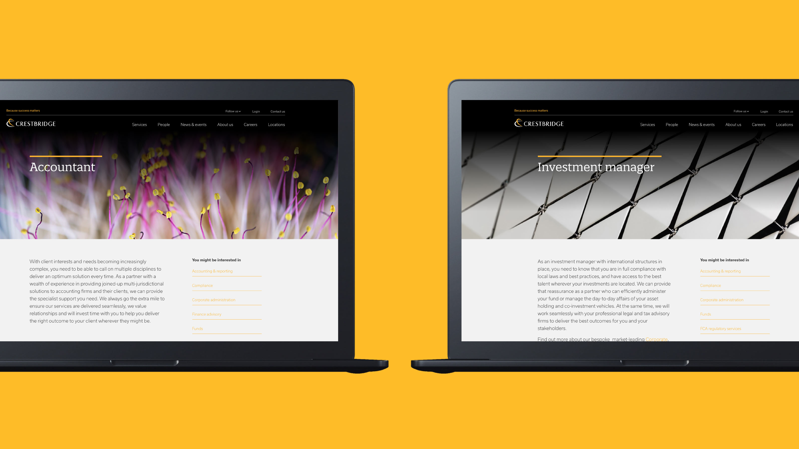 Digital design laptop screen Crestbridge