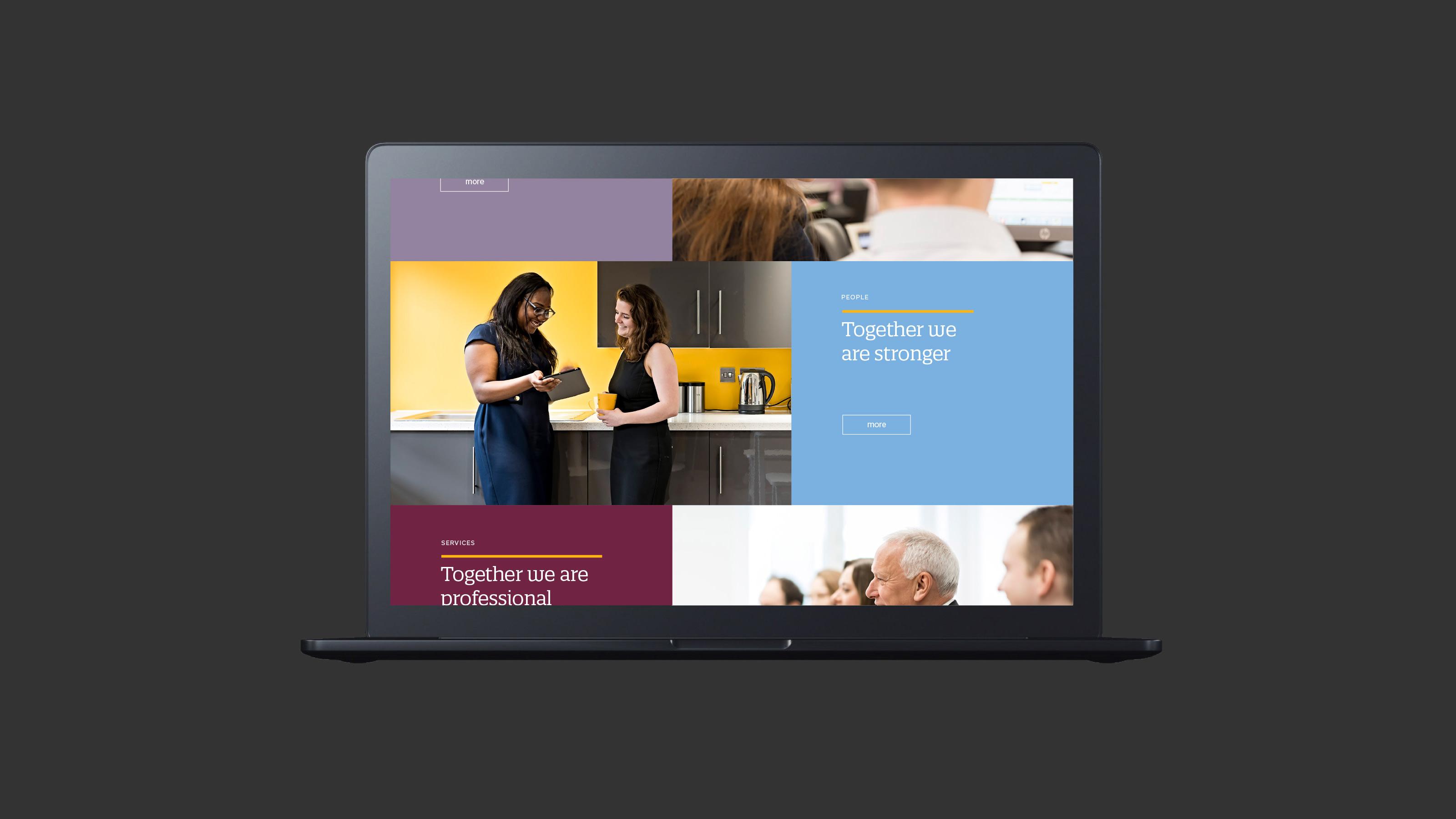 Digital web design screen Crestbridge
