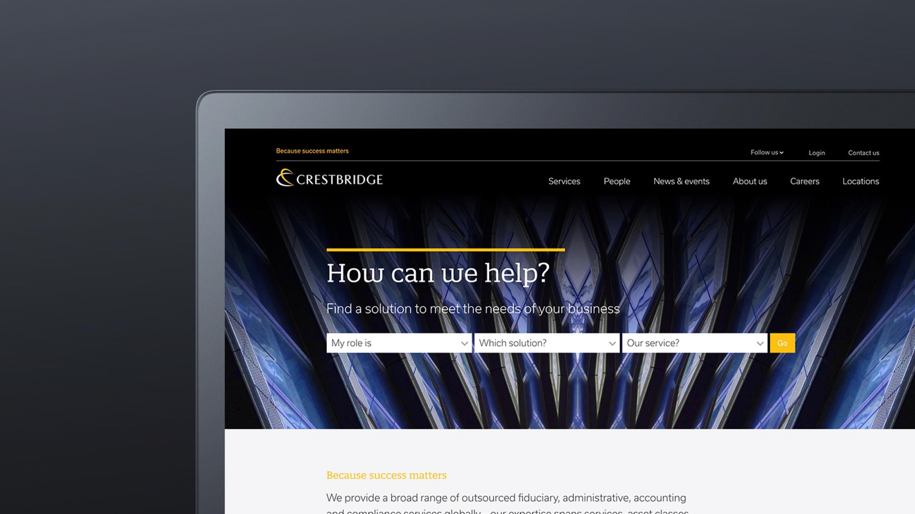 Digital desktop design Crestbridge