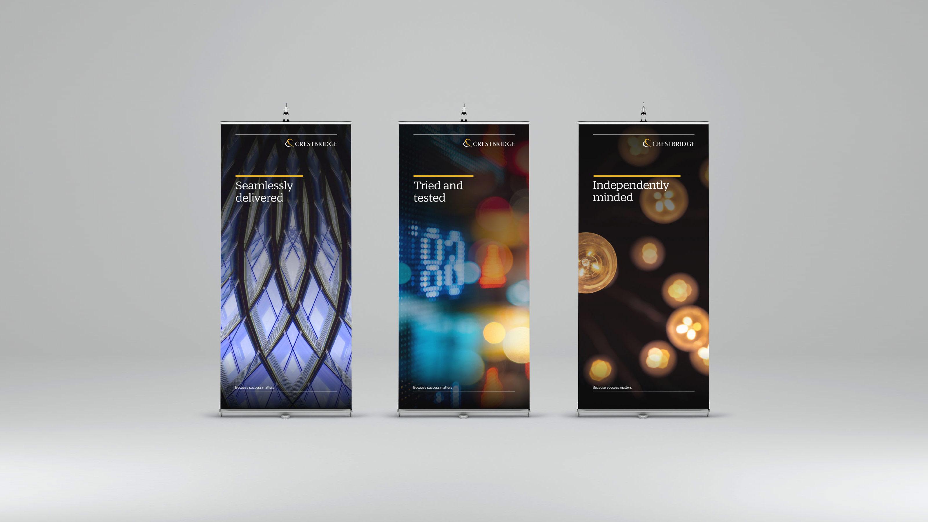 Marketing rollup design Crestbridge
