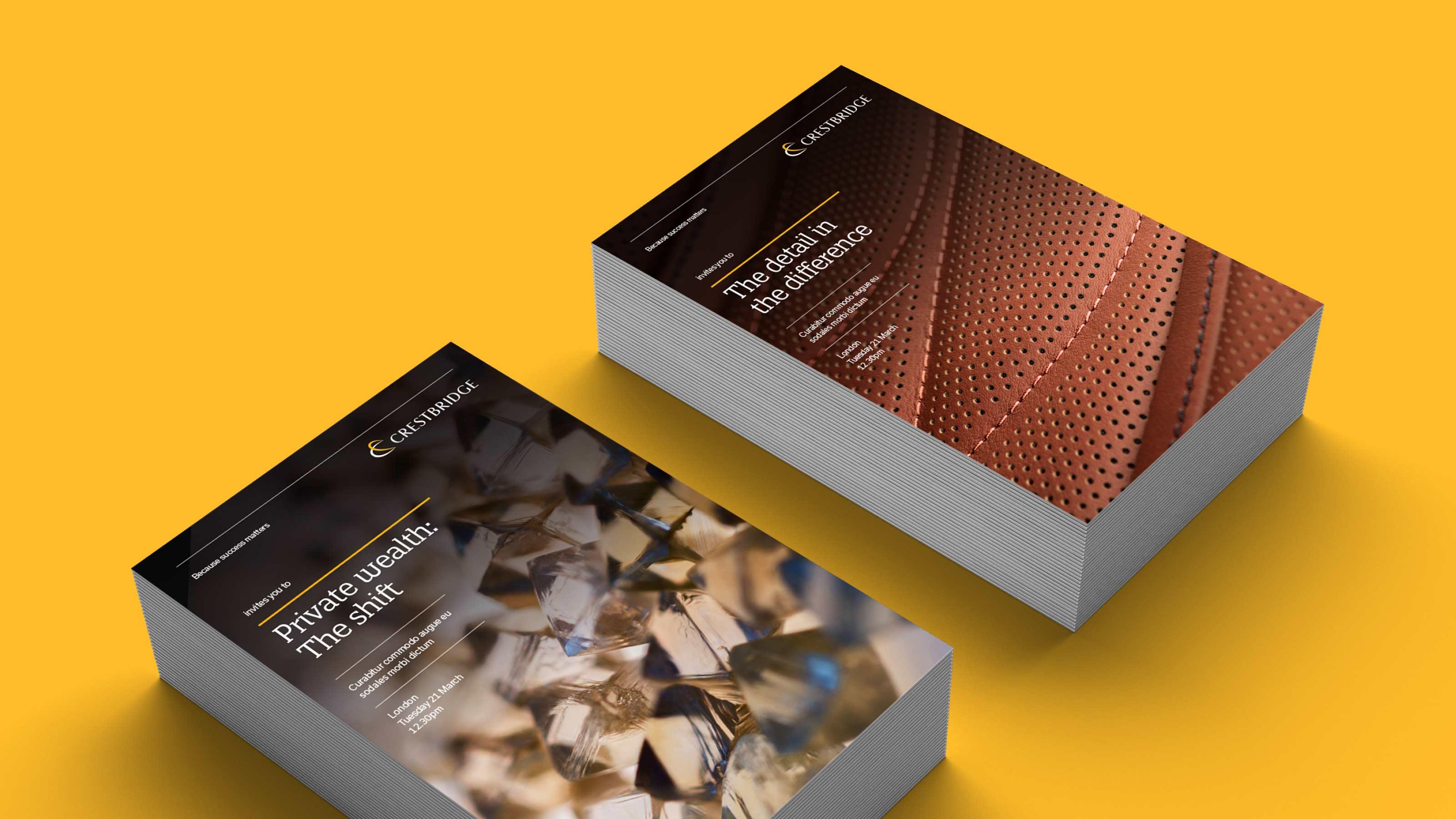 Marketing printed materials design Crestbridge