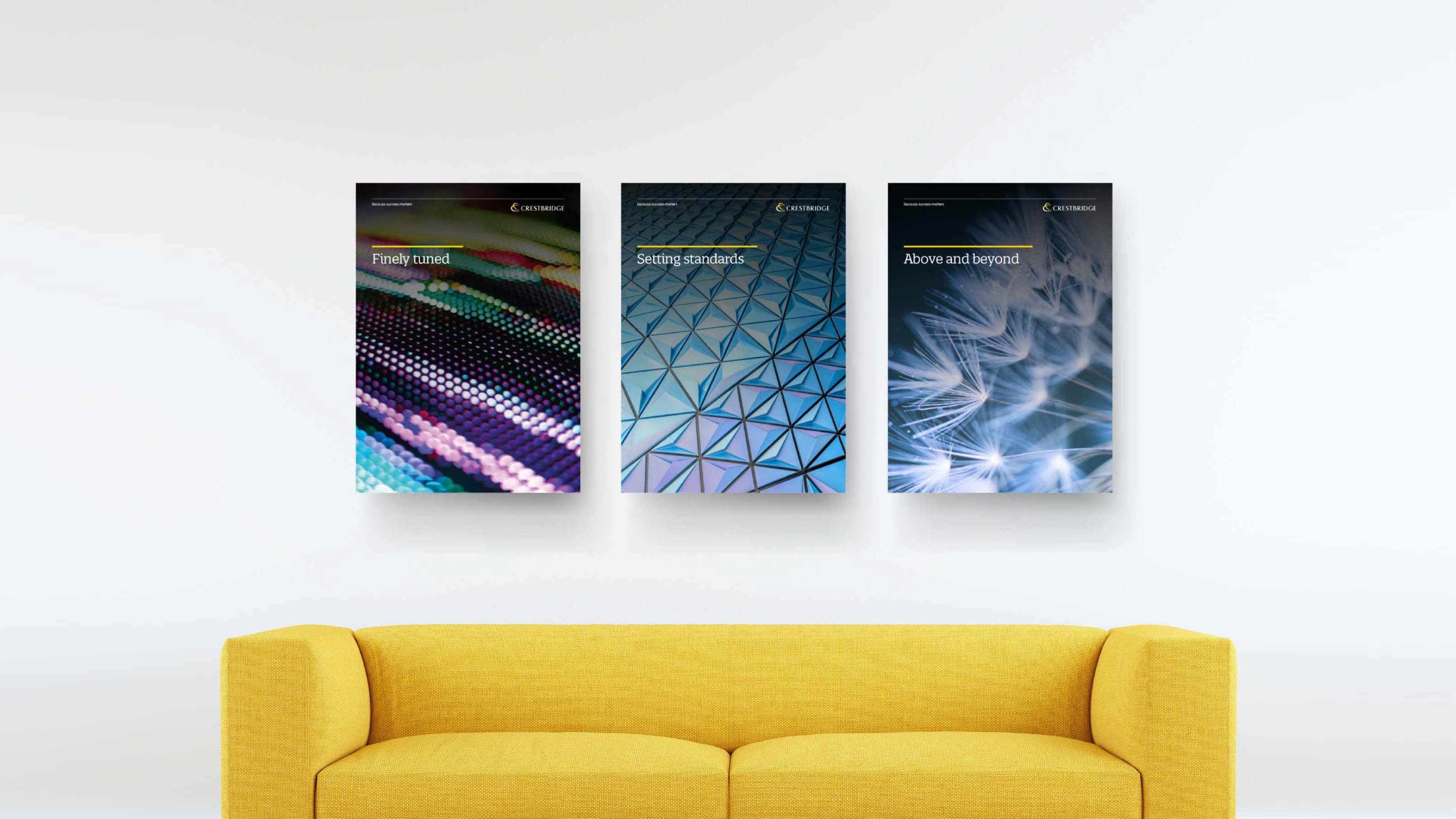 Marketing poster design Crestbridge