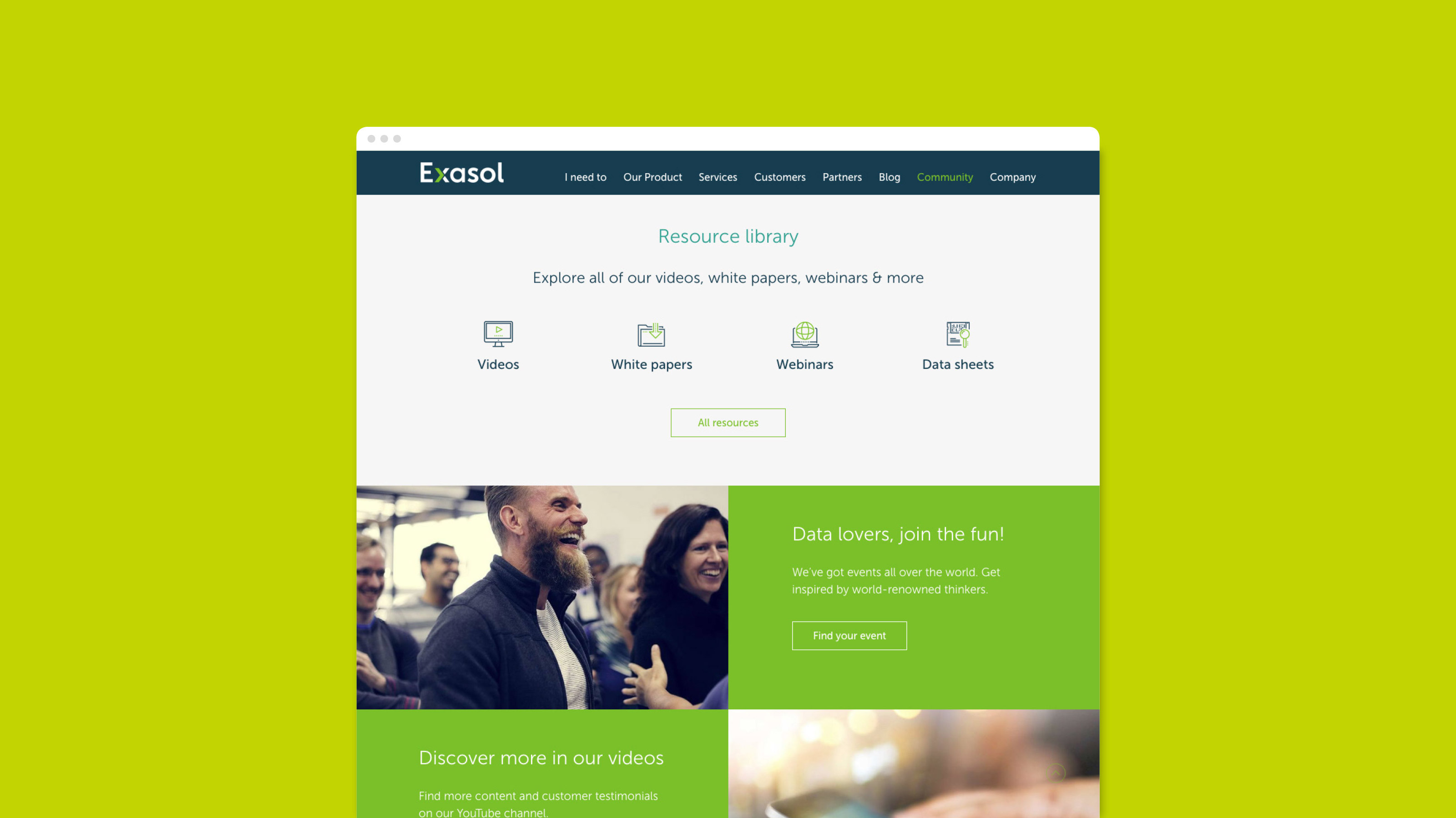 Exasol Digital corporate website