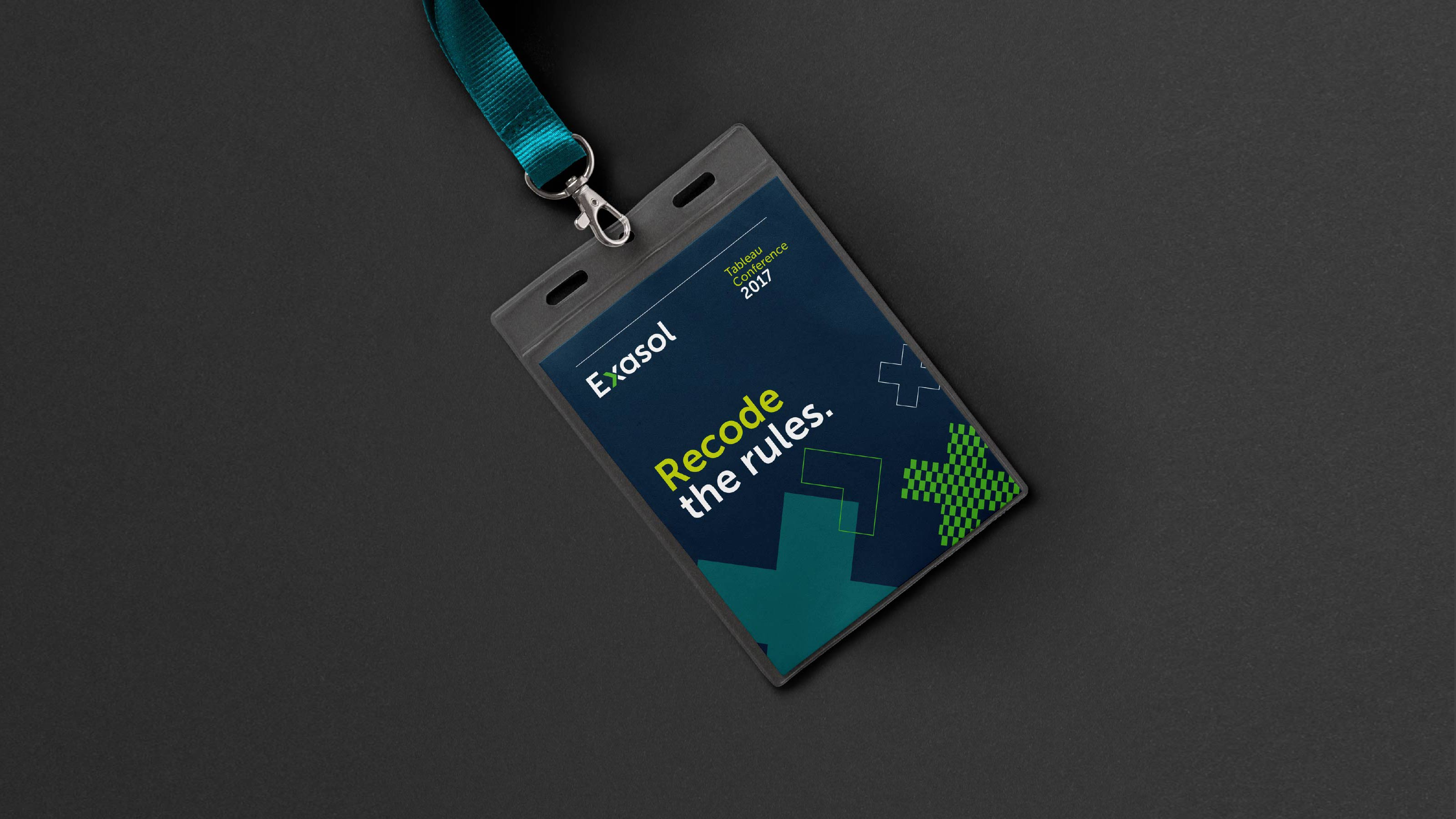 Exasol Marketing name tag