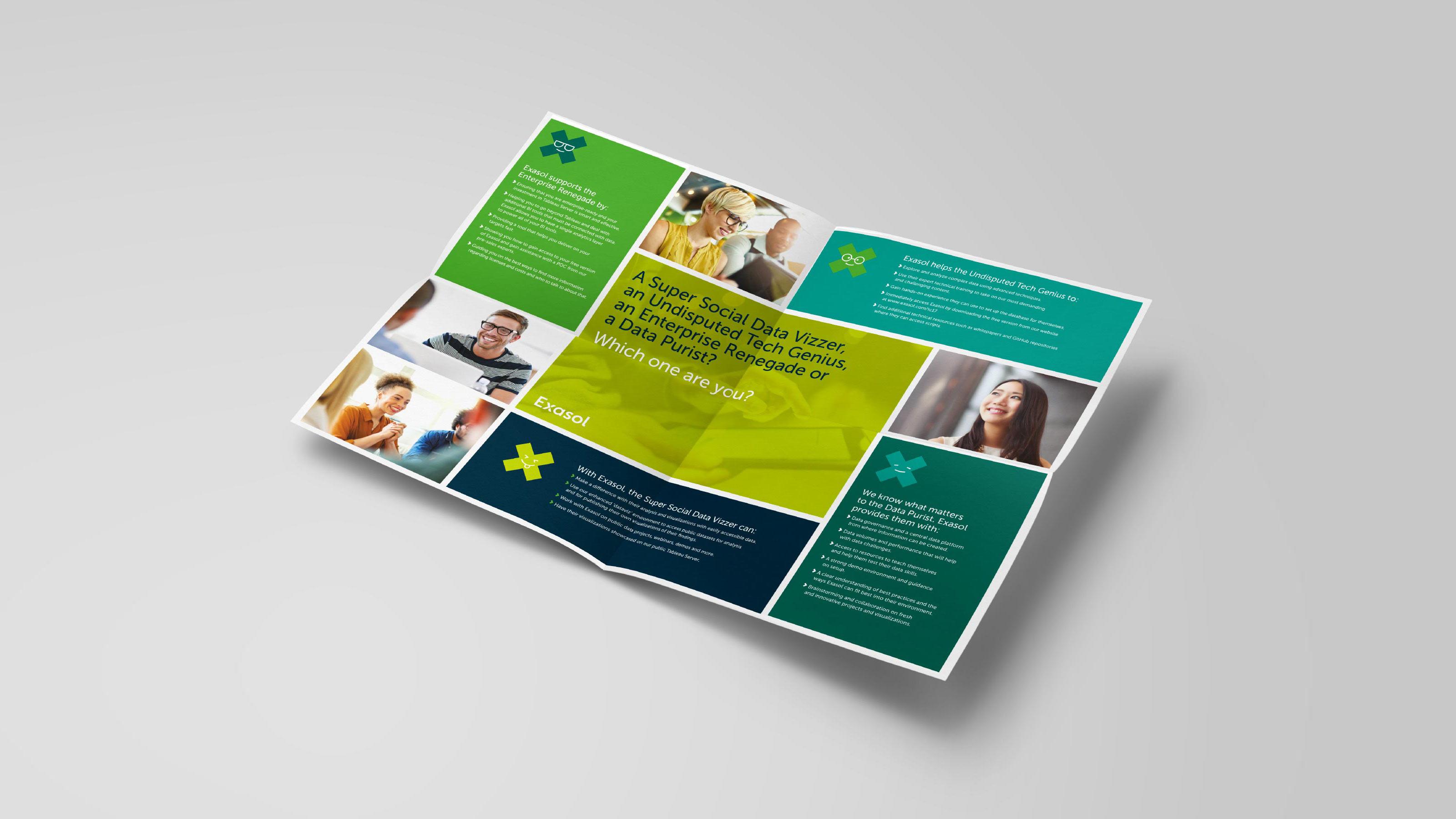 brand leaflet design Exasol
