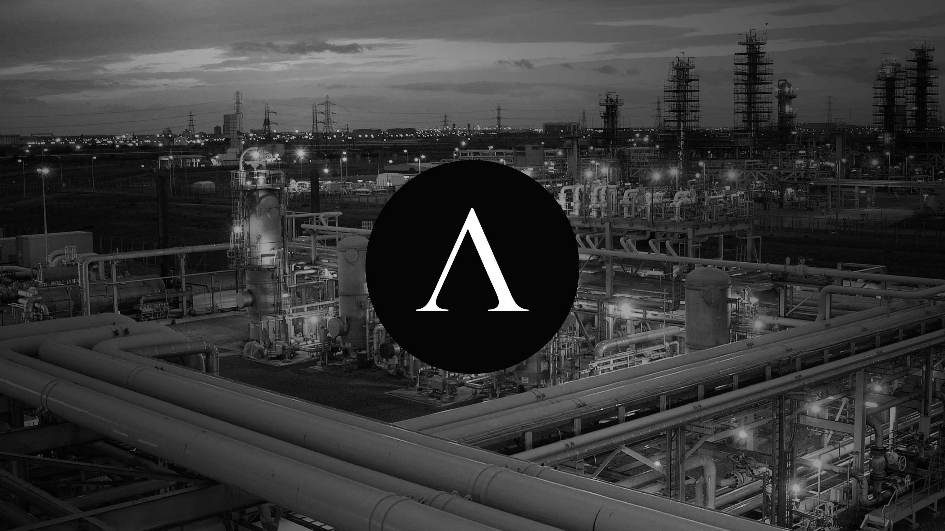 Brand logo industrial background Antin