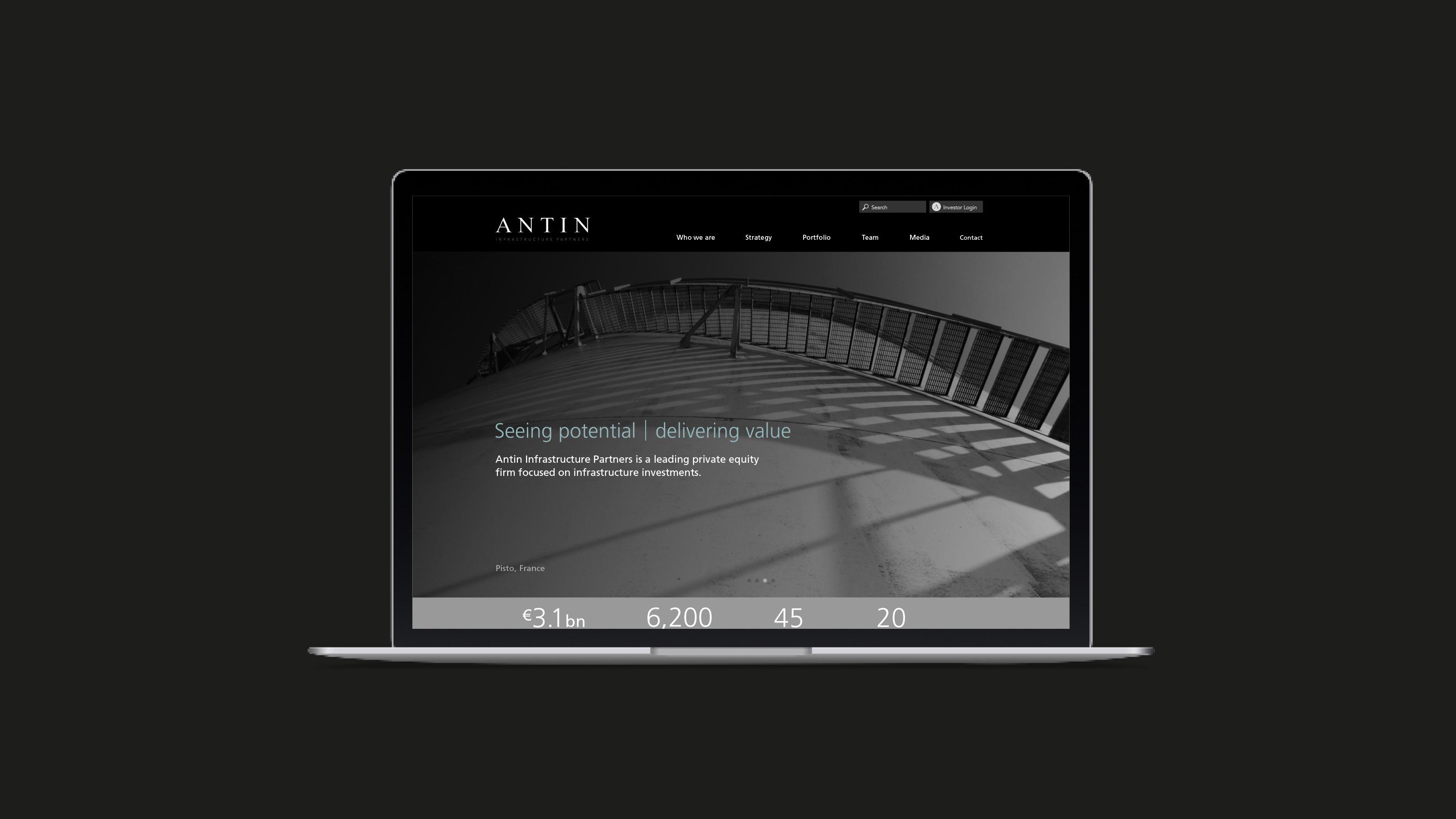 Brand desktop screen Antin
