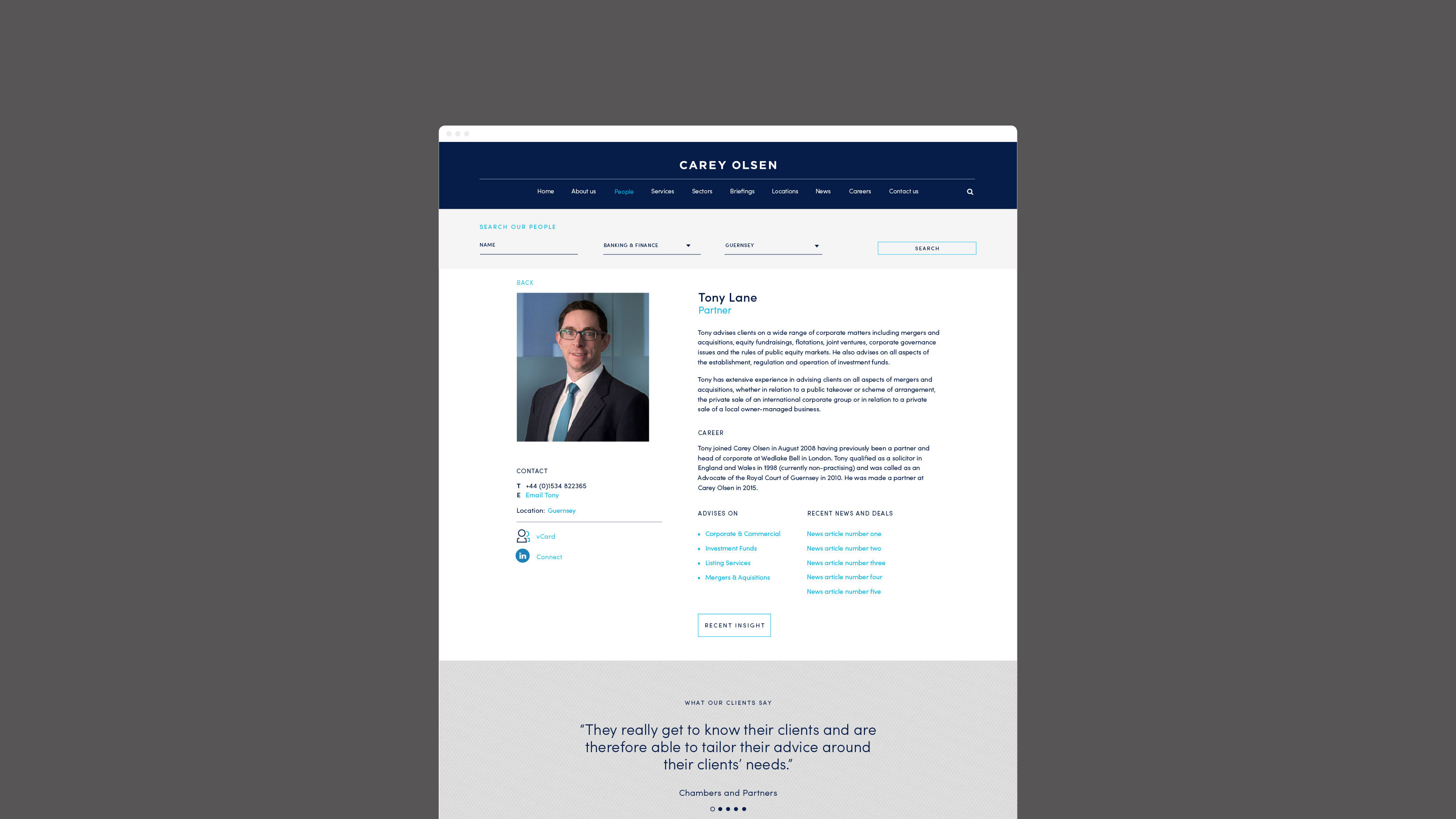 Digital web page design Carey