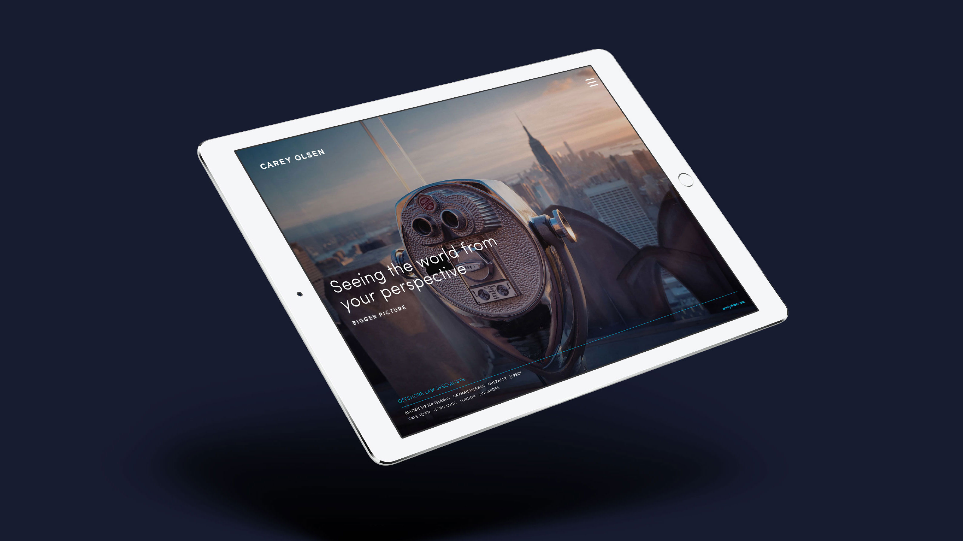 Marketing tablet design Carey