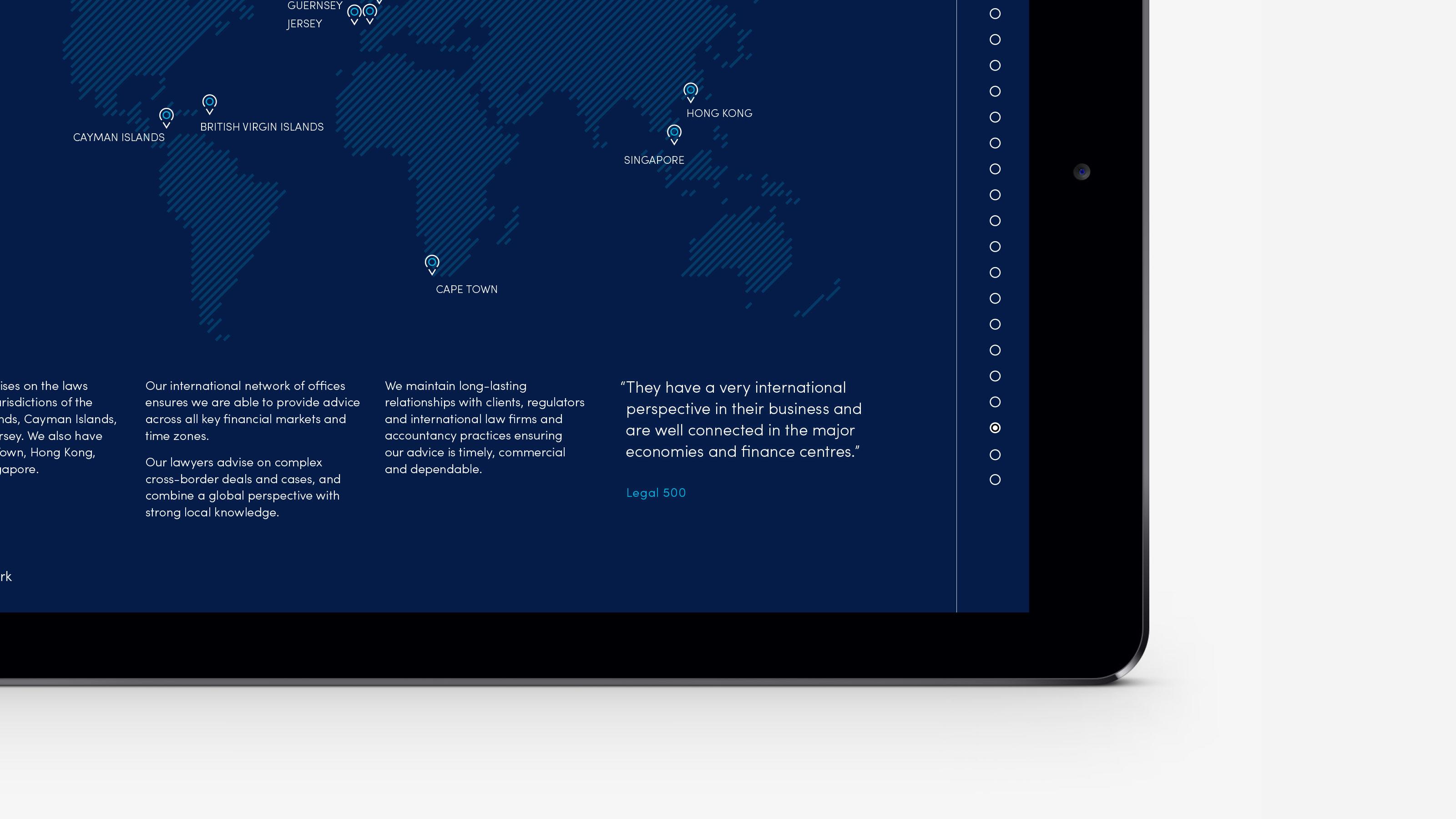 Marketing tablet map Carey