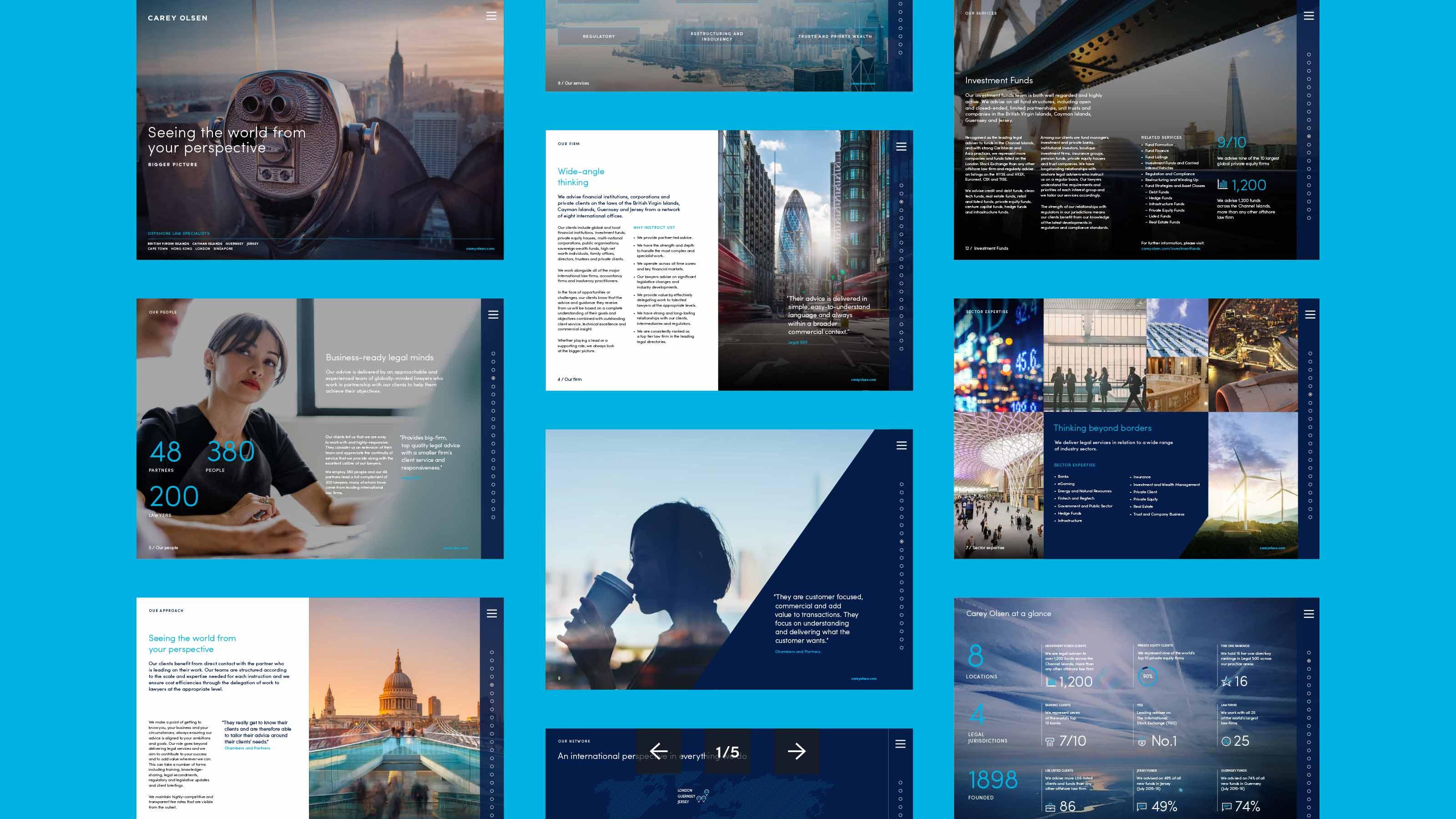 Marketing page layouts Carey