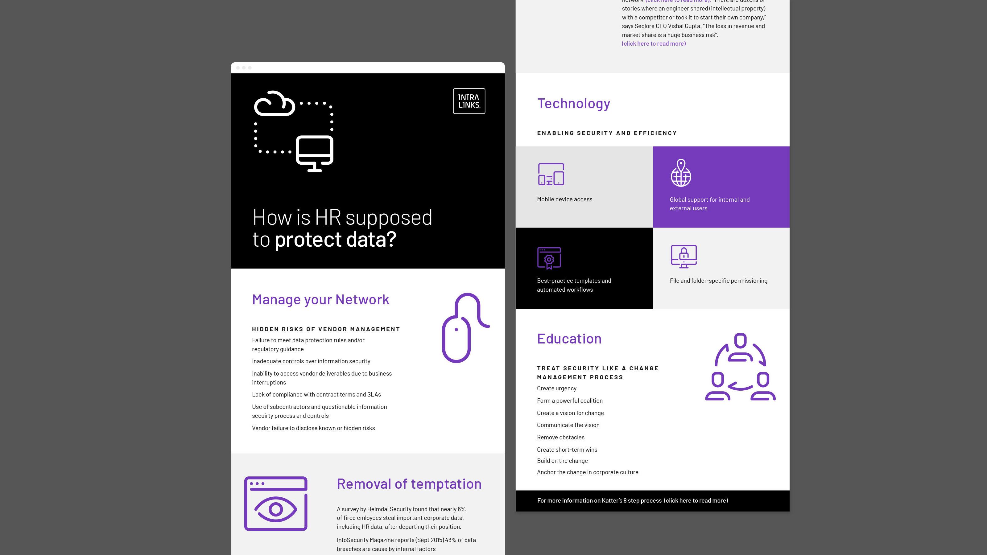 Intralinks Brand design screens
