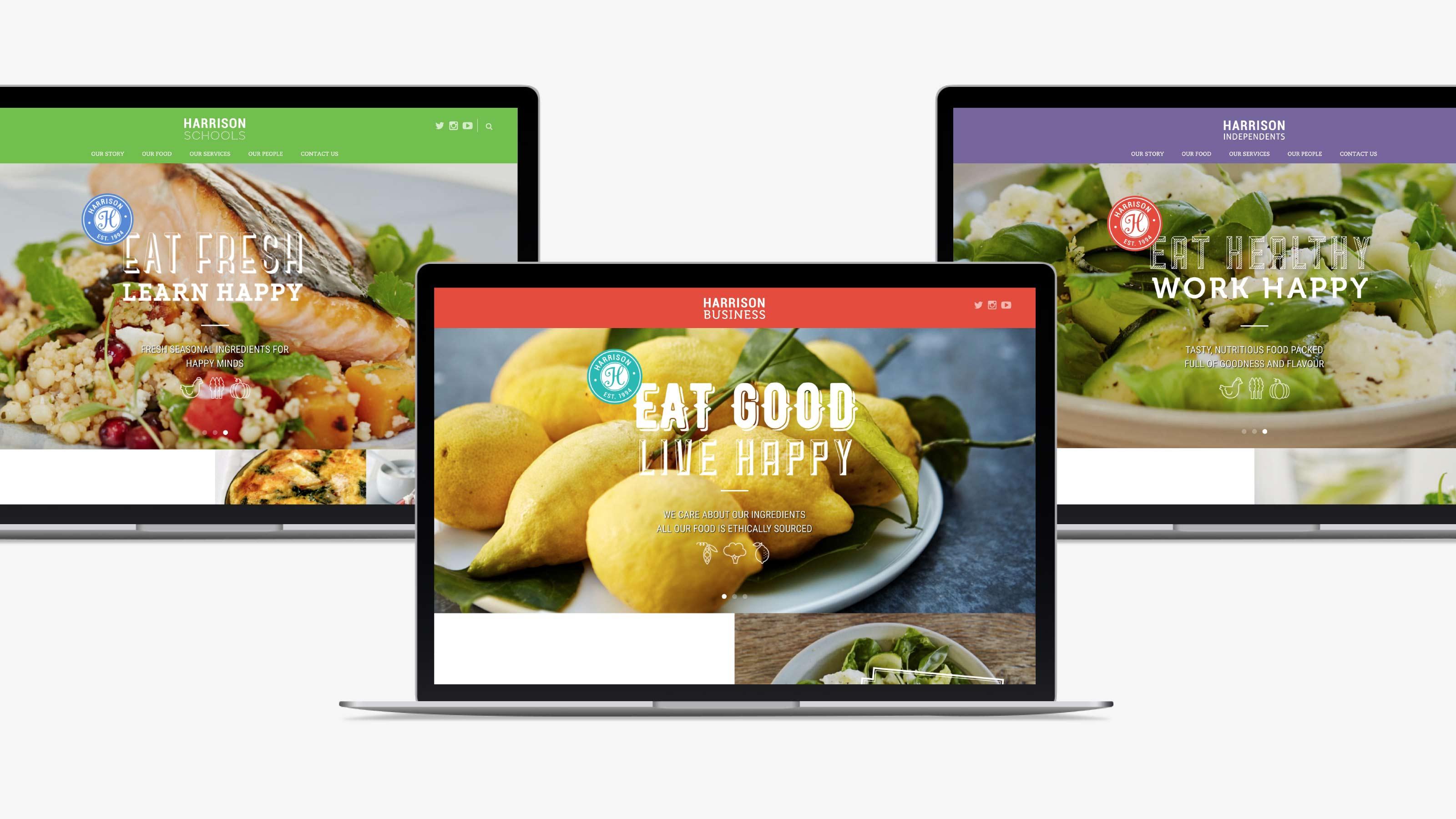 Harrison Digital desktop website design