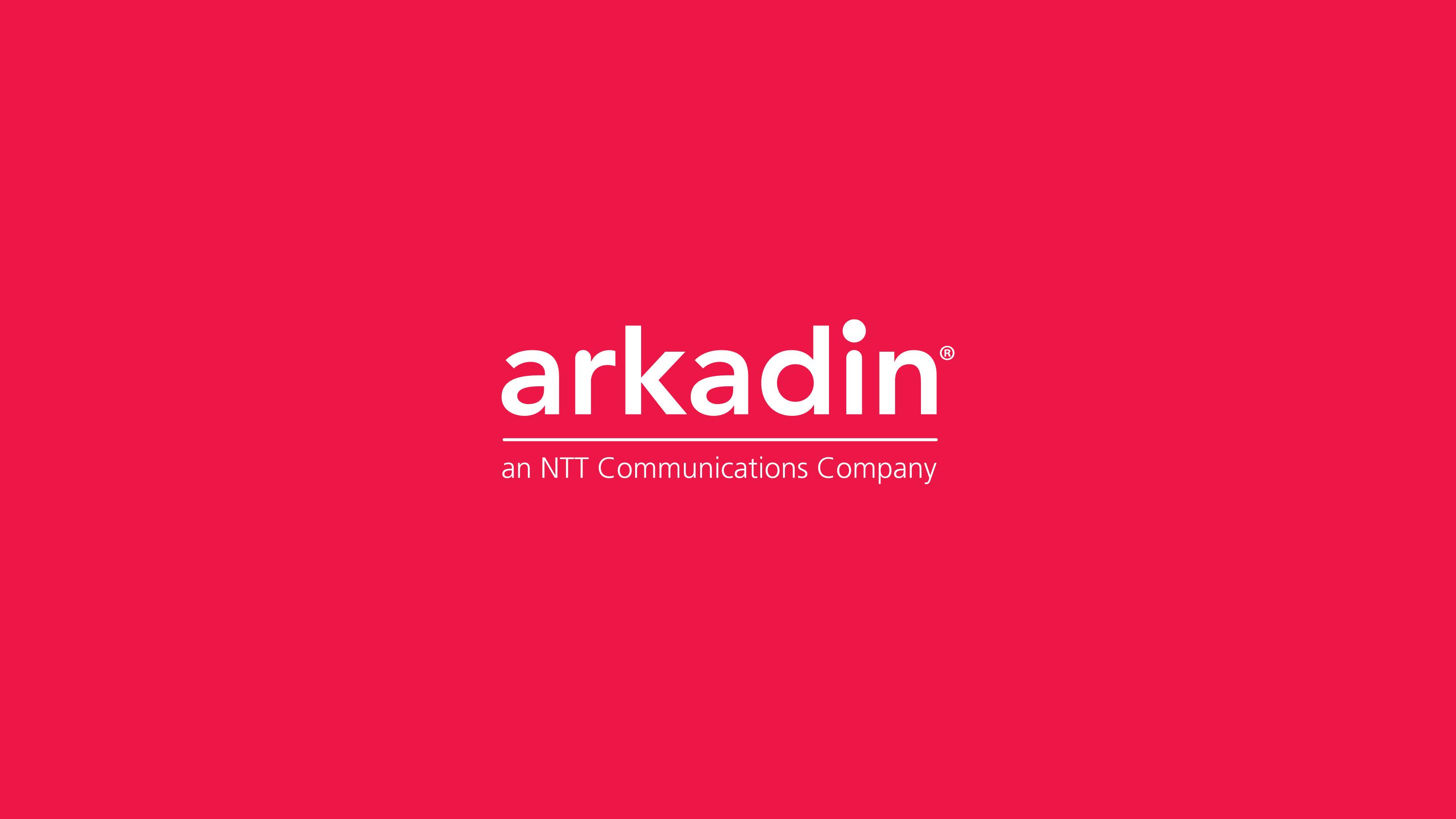 brand logo red background Arkadin