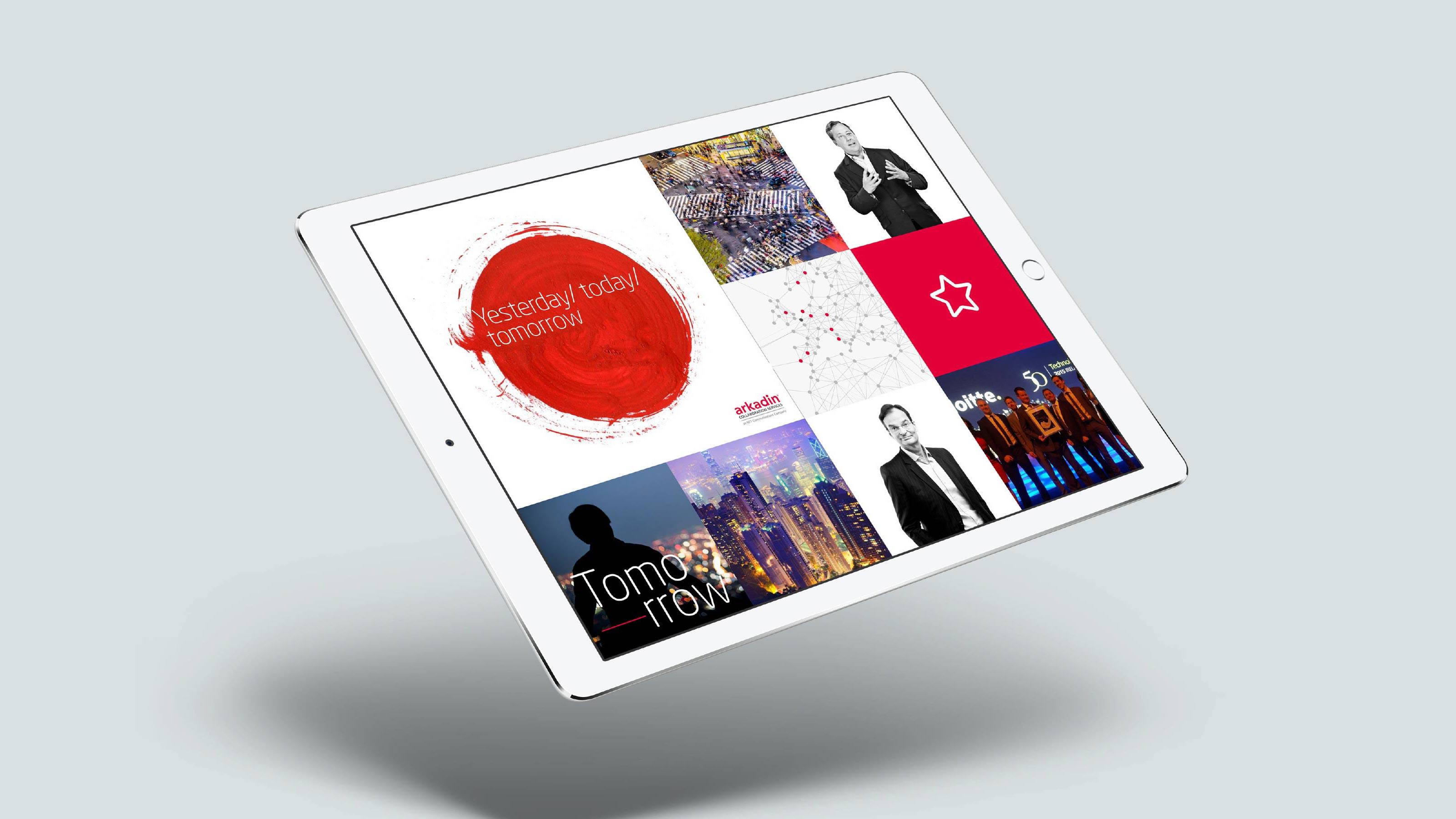 Marketing tablet design Arkadin