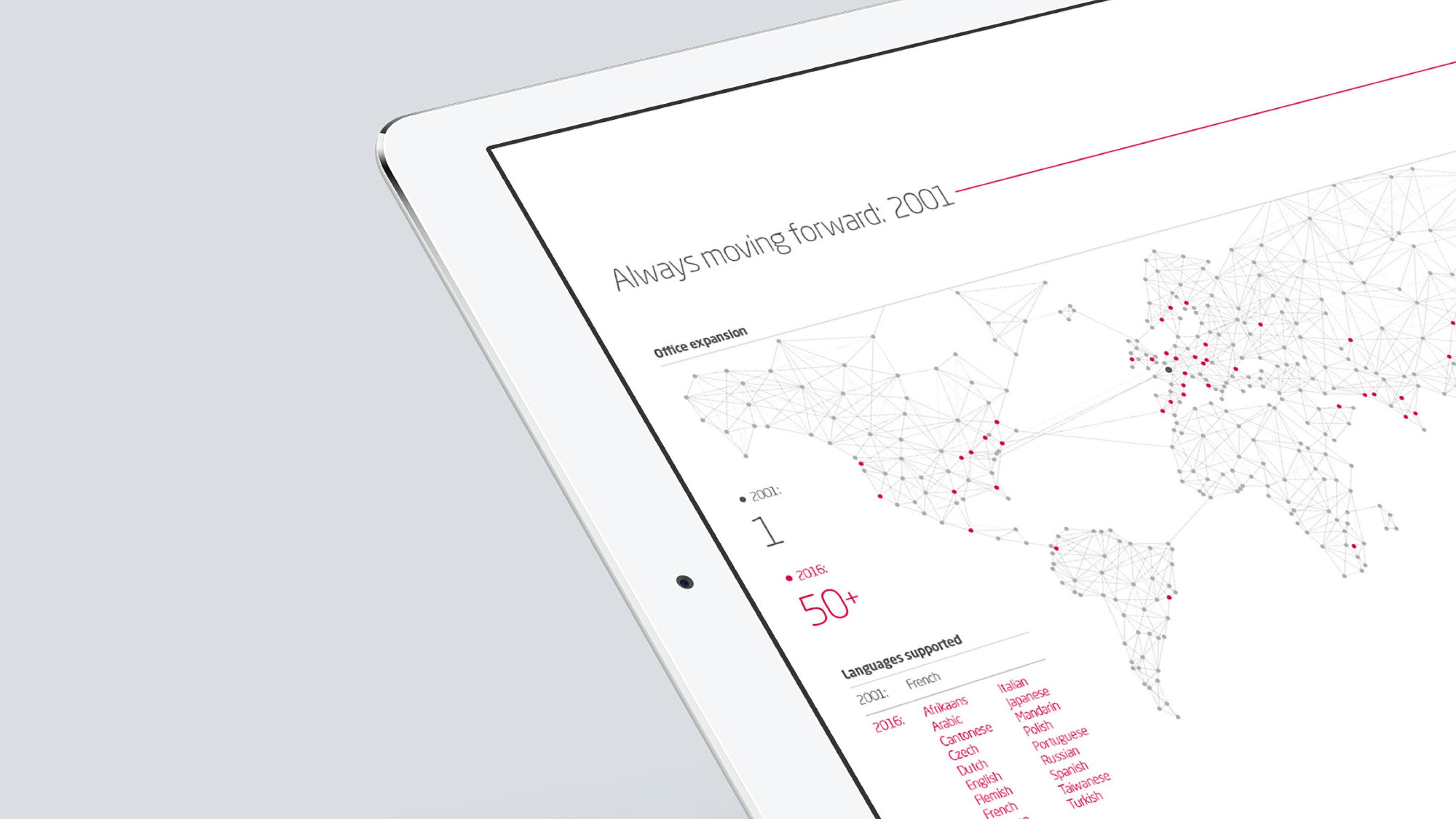 marketing tablet map Arkadin
