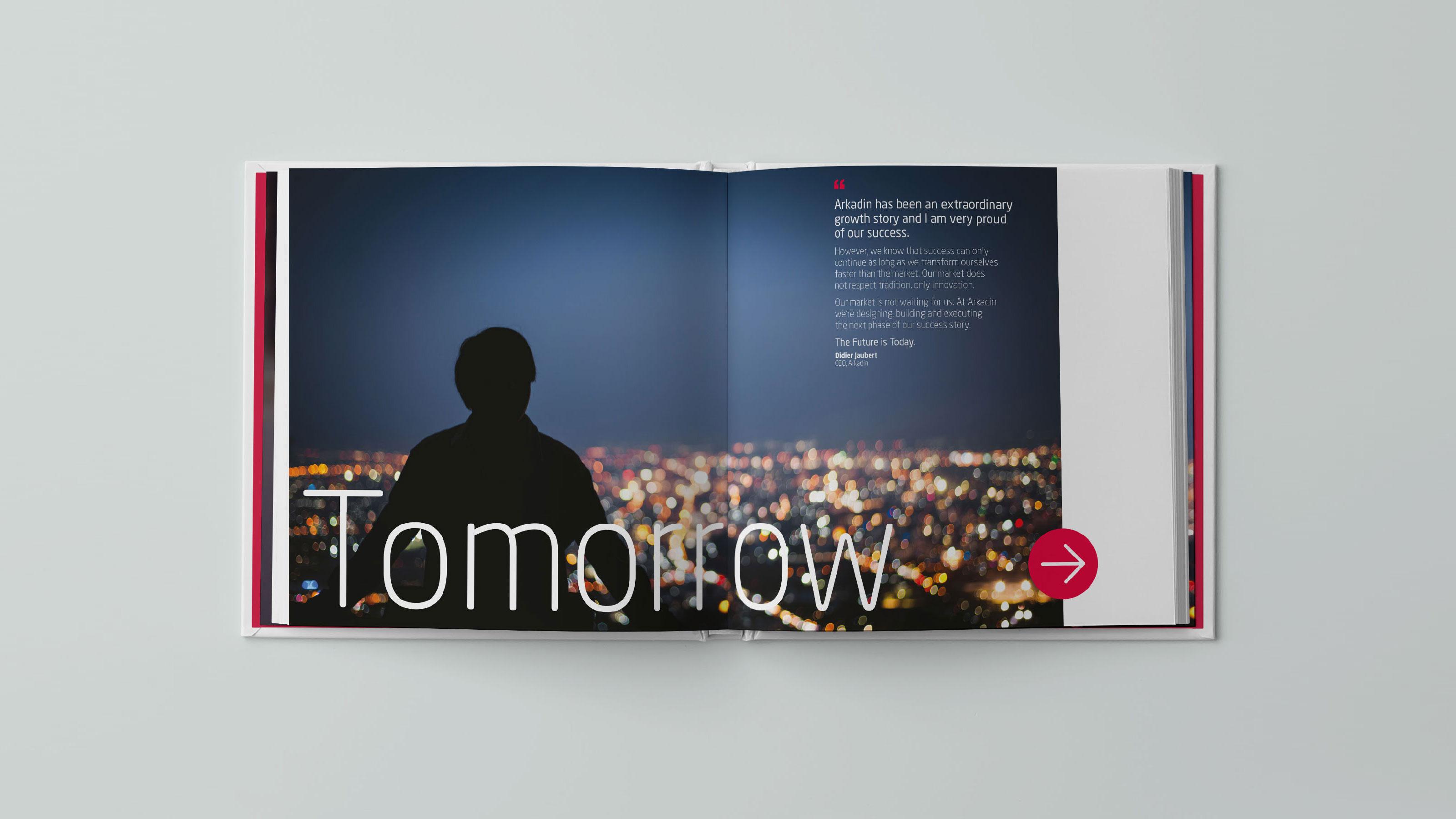 marketing book broadside typography Arkadin