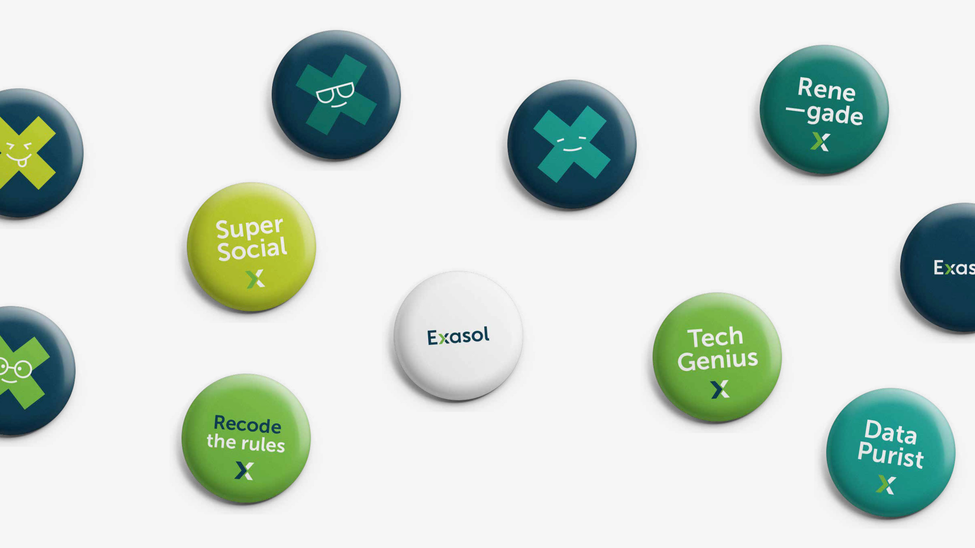 marketing x logo badges Exasol