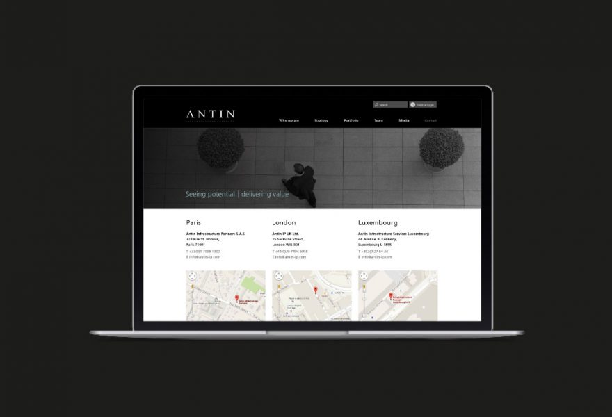Antin Digital desktop screen