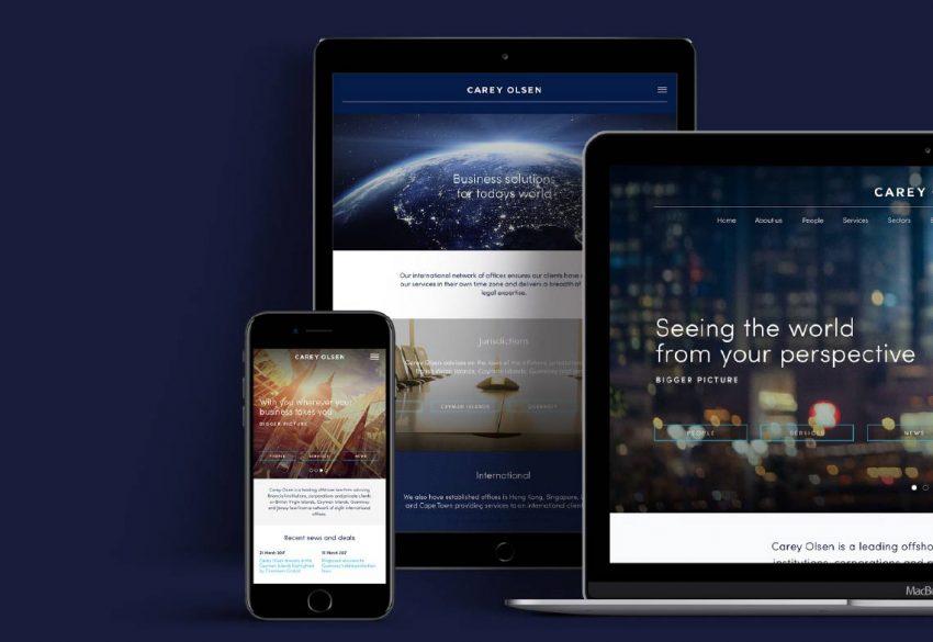 digital responsive website Carey Olsen